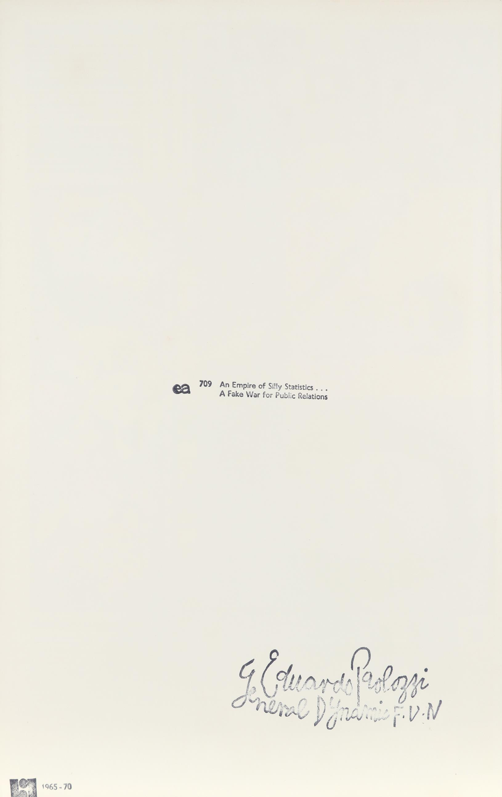 ‡Sir Eduardo Paolozzi CBE, RA (Scottish 1924-2005) General Dynamic F.U.N.: An Empire of Silly - Image 5 of 8