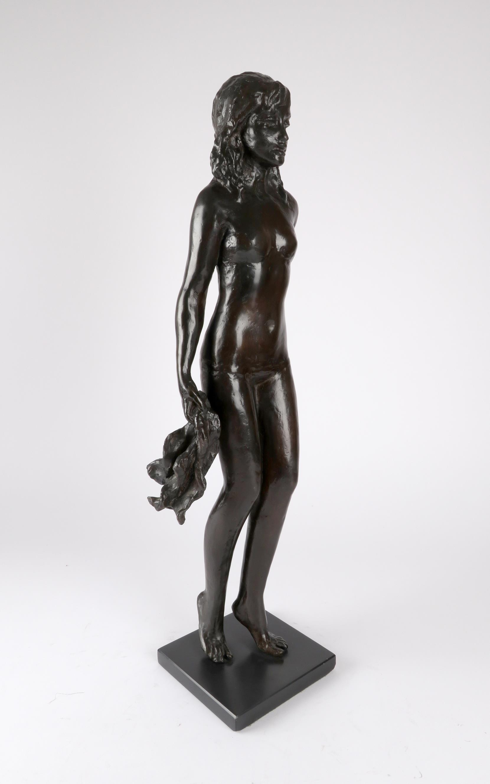 ‡Sydney Harpley RA, FRBS (1927-1992) Towel girl Signed and numbered Harpley/2/9 (to towel) Bronze on - Image 4 of 4