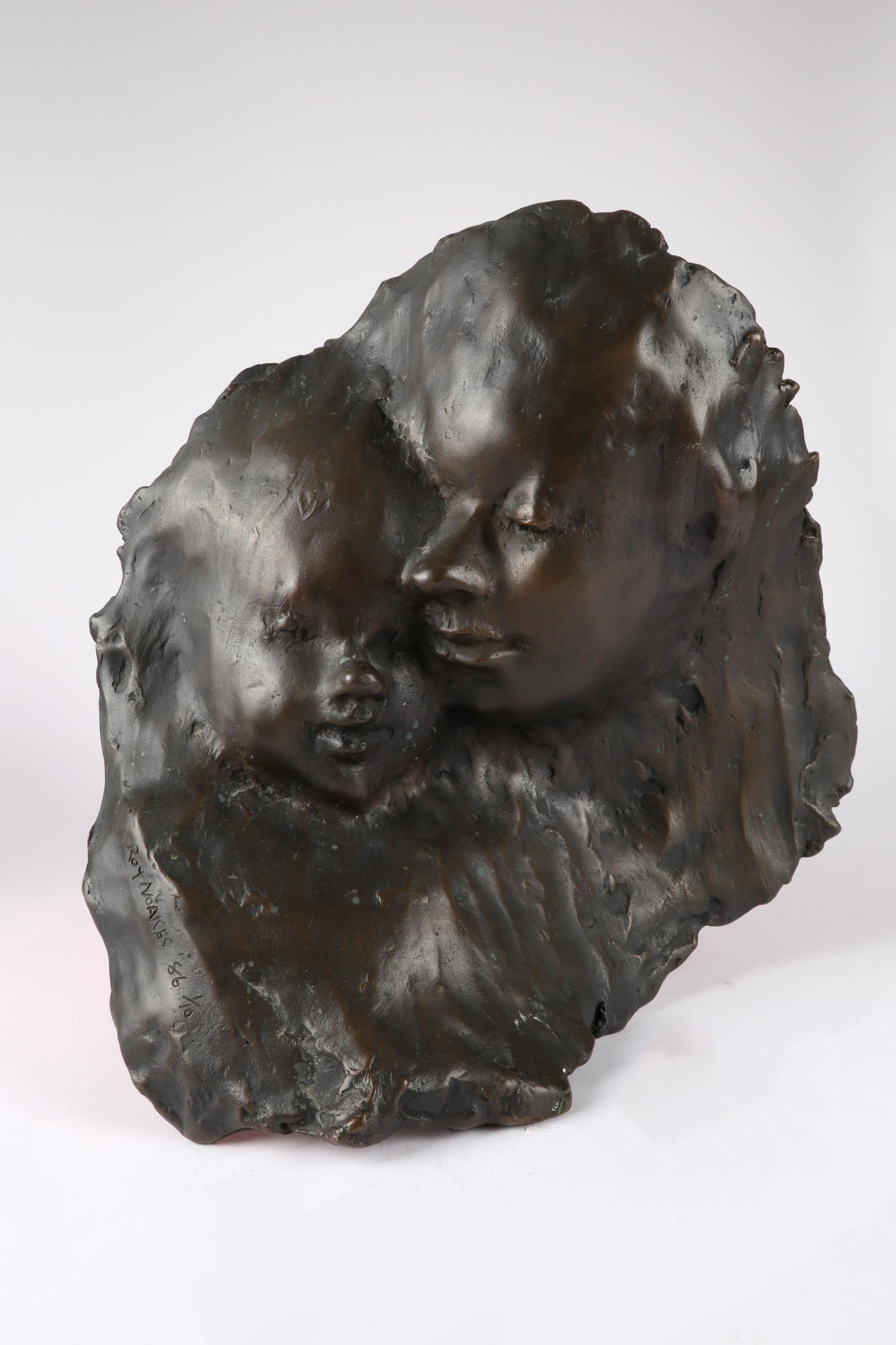 ‡Roy Noakes (1936-2002) Mother and Child Signed, dated and numbered Roy NOAKES 86 1/10 Bronze on a - Image 2 of 2