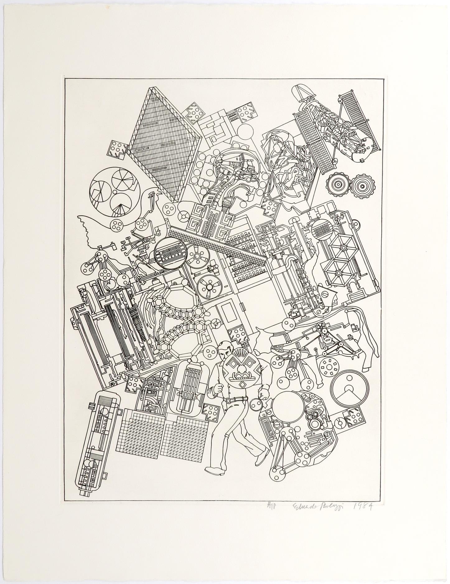 ‡Sir Eduardo Paolozzi CBE RA (Scottish 1924-2005) Study for Bruckner; On the Moon; Untitled Three, - Image 8 of 9