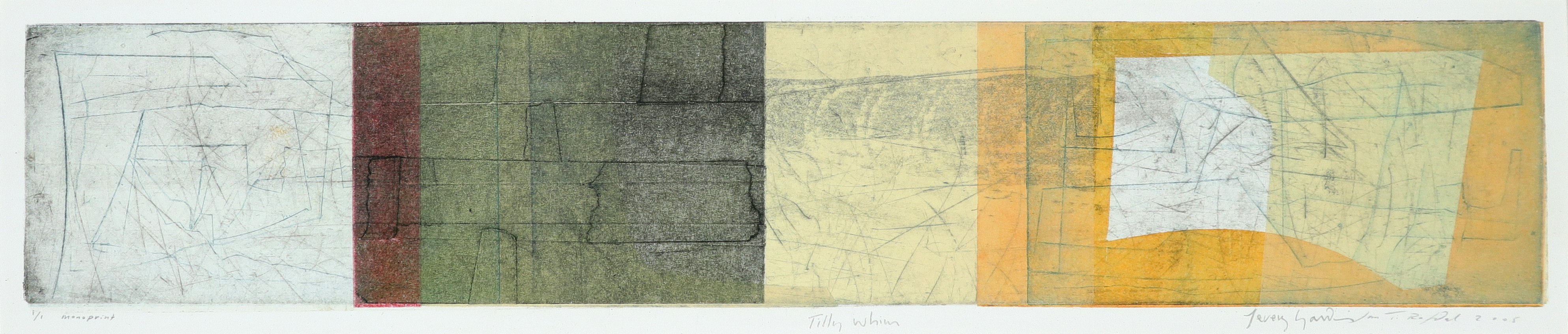 ‡Jeremy Gardiner (b.1957) Tilly Whim; Seacombe, Dorset A pair, both signed, dated and inscribed 1/