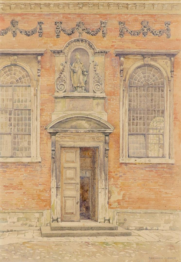 ‡Bernard Cecil Gotch (1876-1963) Old Cloister, Winchester College; School, Winchester College Two, - Image 2 of 12