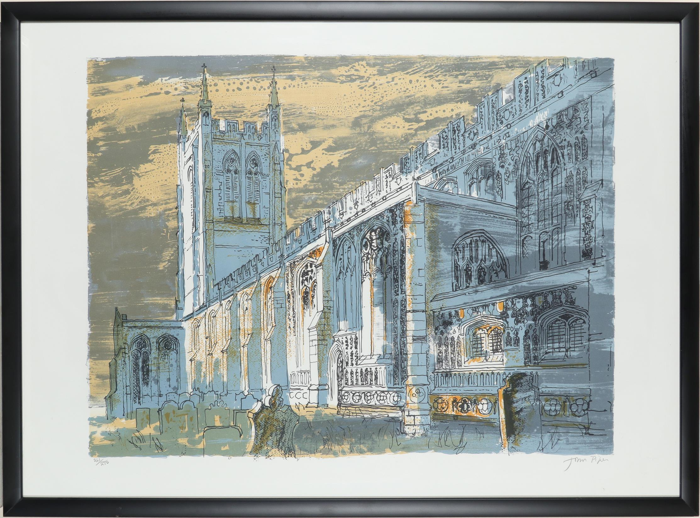 ‡John Piper CH (1903-1992) Long Melford Church (Levinson 336) Signed and numbered John Piper 261/275 - Image 2 of 3