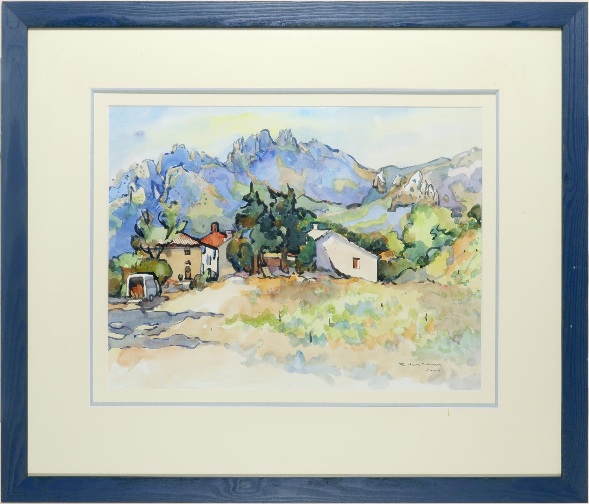 ‡Robert Mestelan (French 20th Century) Château de Redortier, Aix-en-Provence Signed and dated R - Image 2 of 3