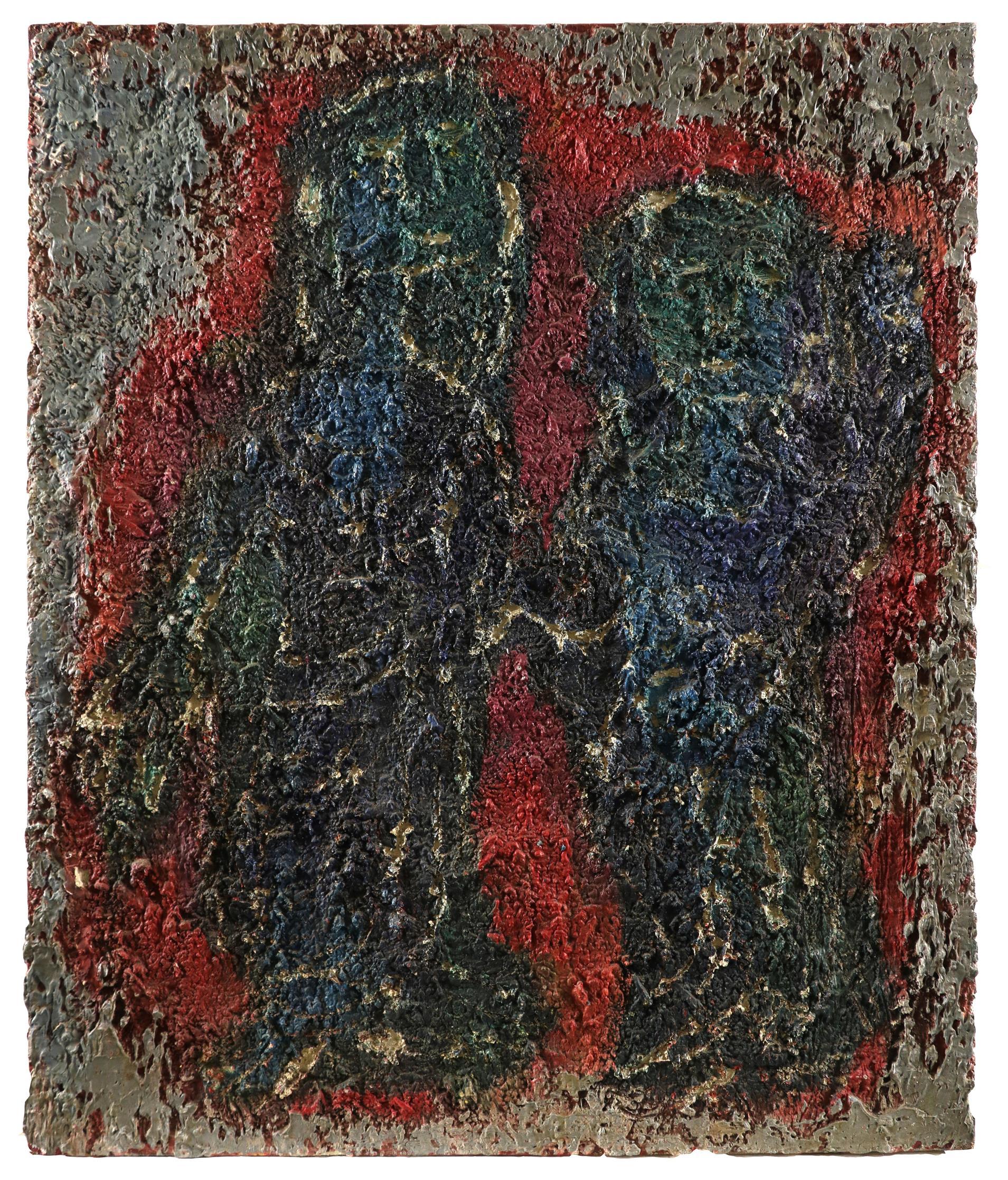 ‡Nina Hosali (1898-1987) Floating Forms; Encounter I; Two figures Three, one signed and dated Hosali - Image 8 of 9