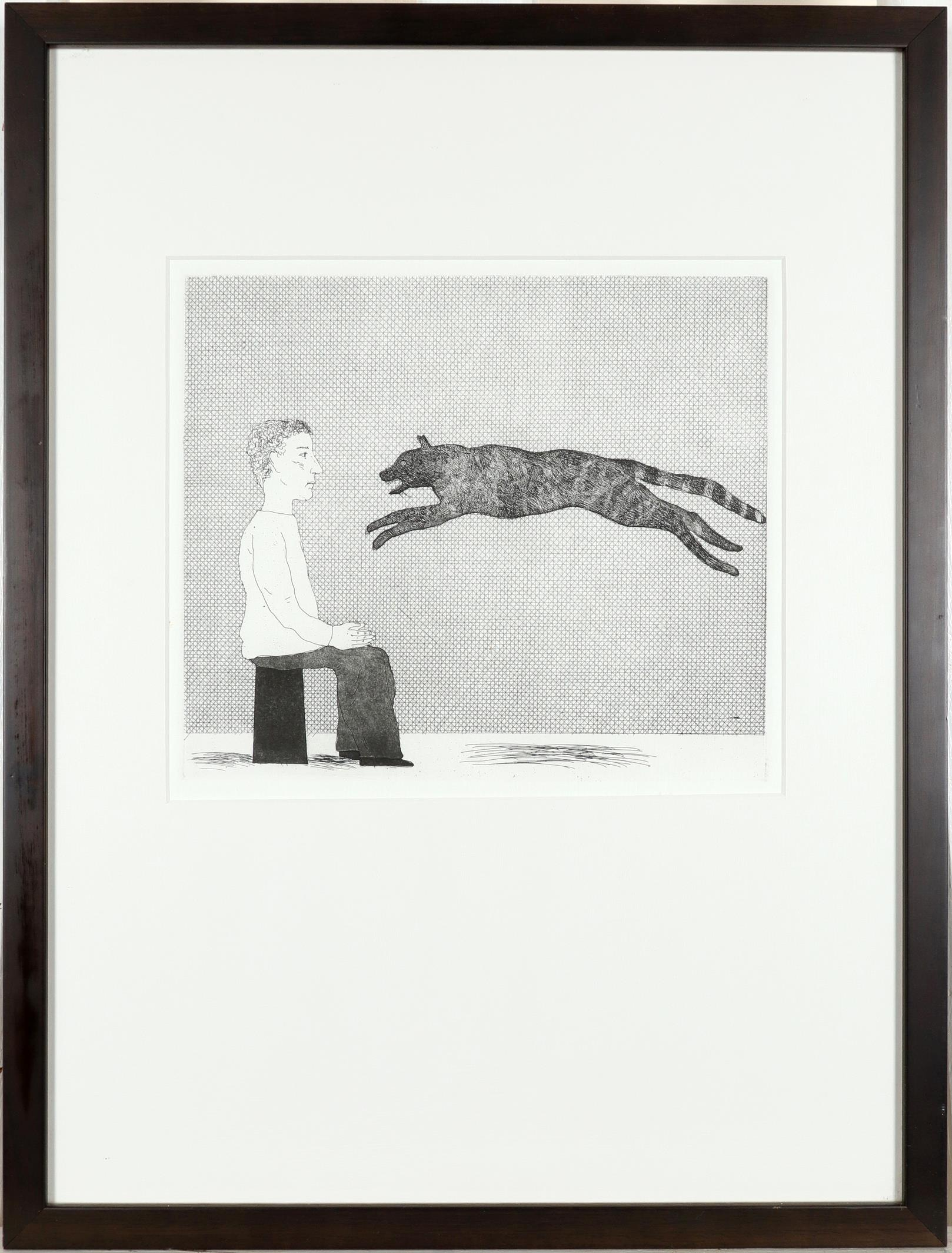 ‡David Hockney RA (b.1937) A Black Cat Leaping (S.A.C 94; M.C.A.T 91) Etching and aquatint, 1969, - Image 2 of 3
