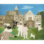 ‡Mary Fedden OBE, RA, RWA (1915-2012) Masque at Strawberry Hill Signed Fedden 1990 (lower right) Oil