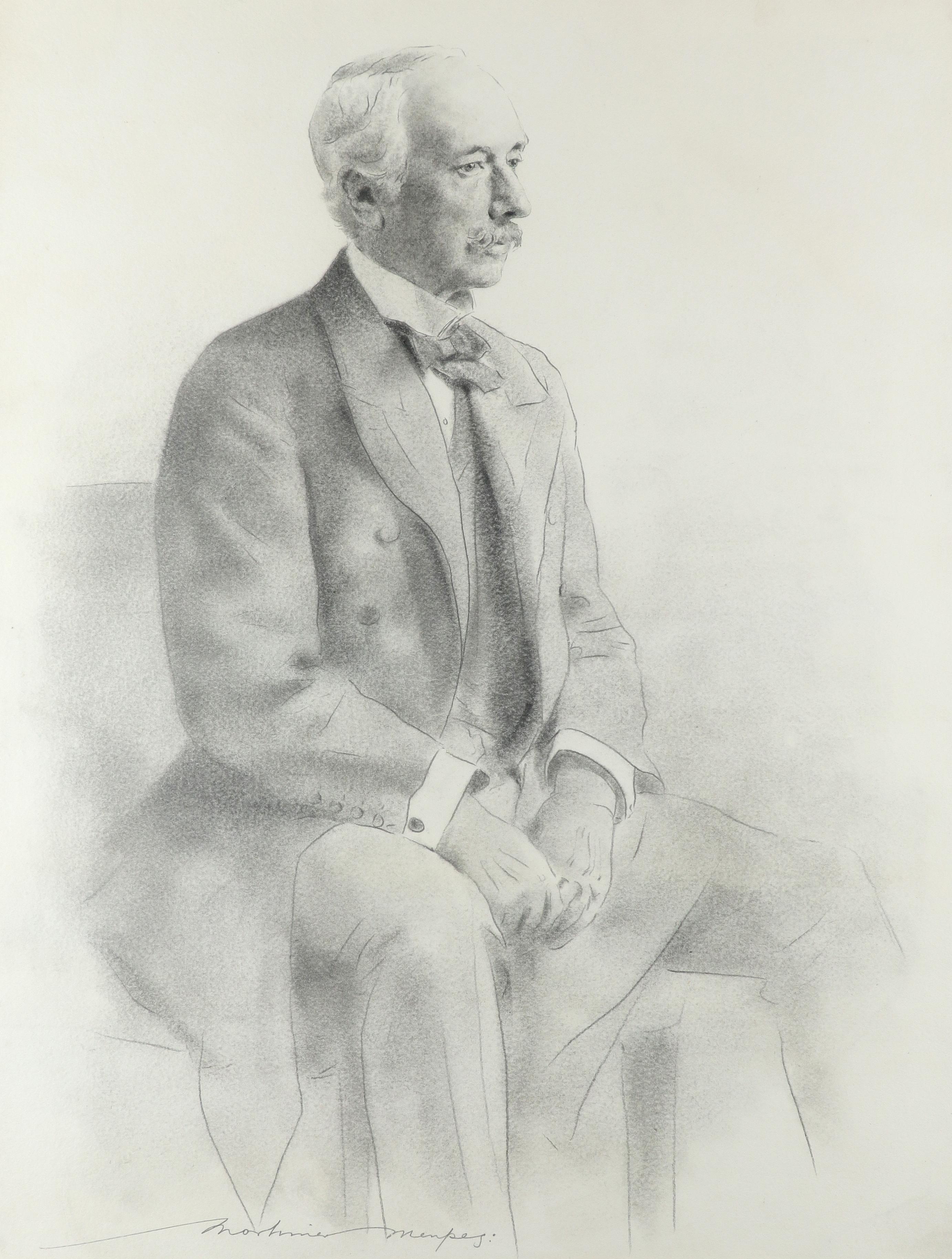 Mortimer Menpes (1860-1938) Portrait of Field Marshall the Rt. Hon. Garnet Joseph, Viscount