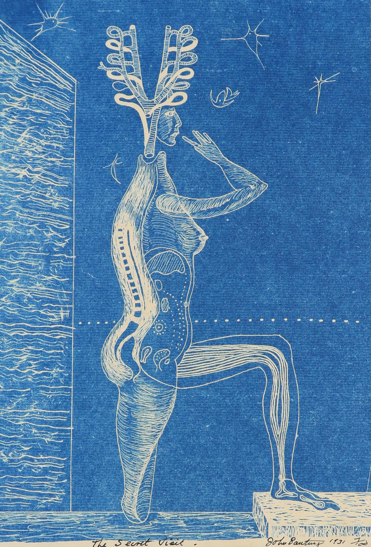 ‡John Banting (1902-1972) The Secret Visit Signed, dated, numbered and inscribed The Secret Visit