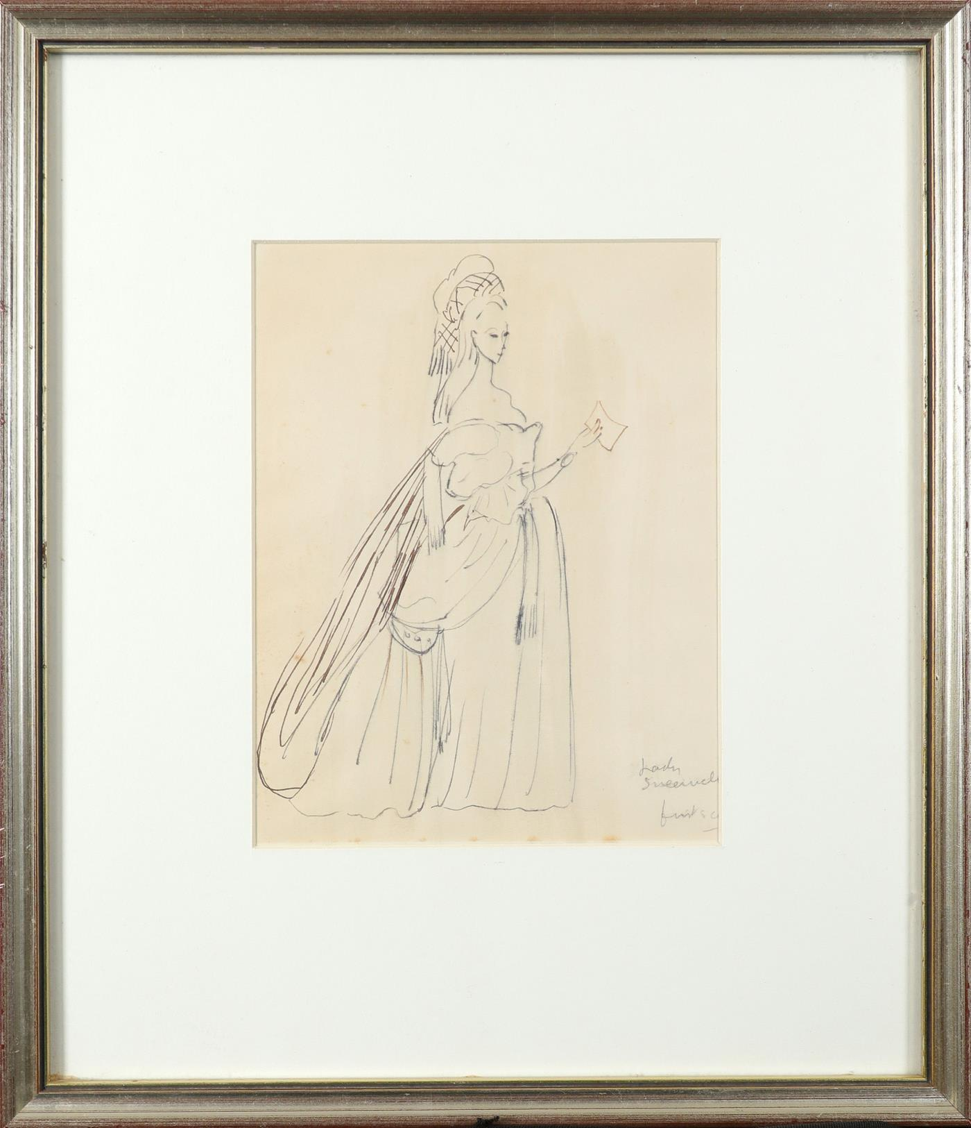 ‡Sir Cecil Beaton CBE (1904-1980) Costume designs for The School for Scandal: Lady Sneerwell; - Image 3 of 6
