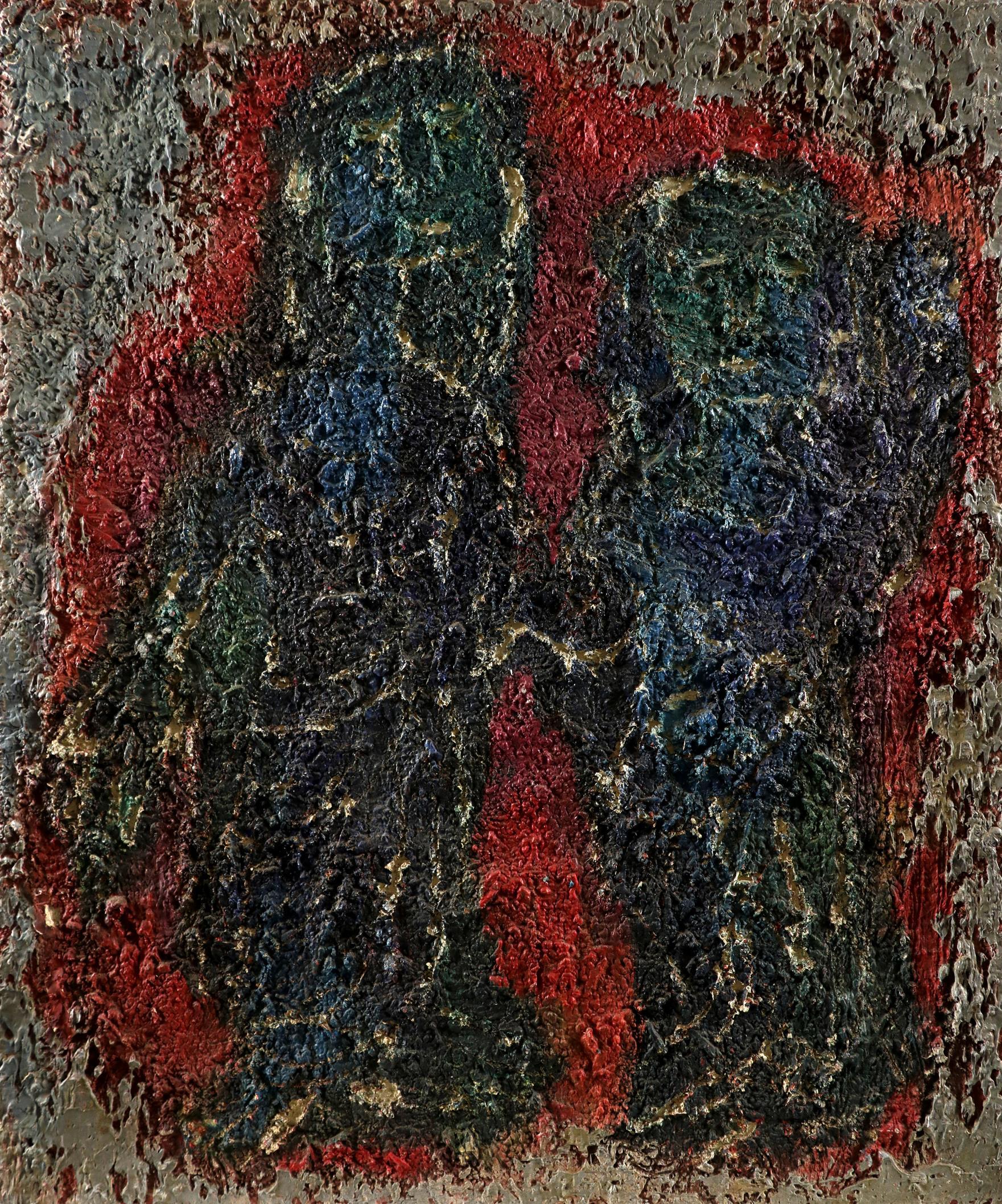 ‡Nina Hosali (1898-1987) Floating Forms; Encounter I; Two figures Three, one signed and dated Hosali - Image 3 of 9