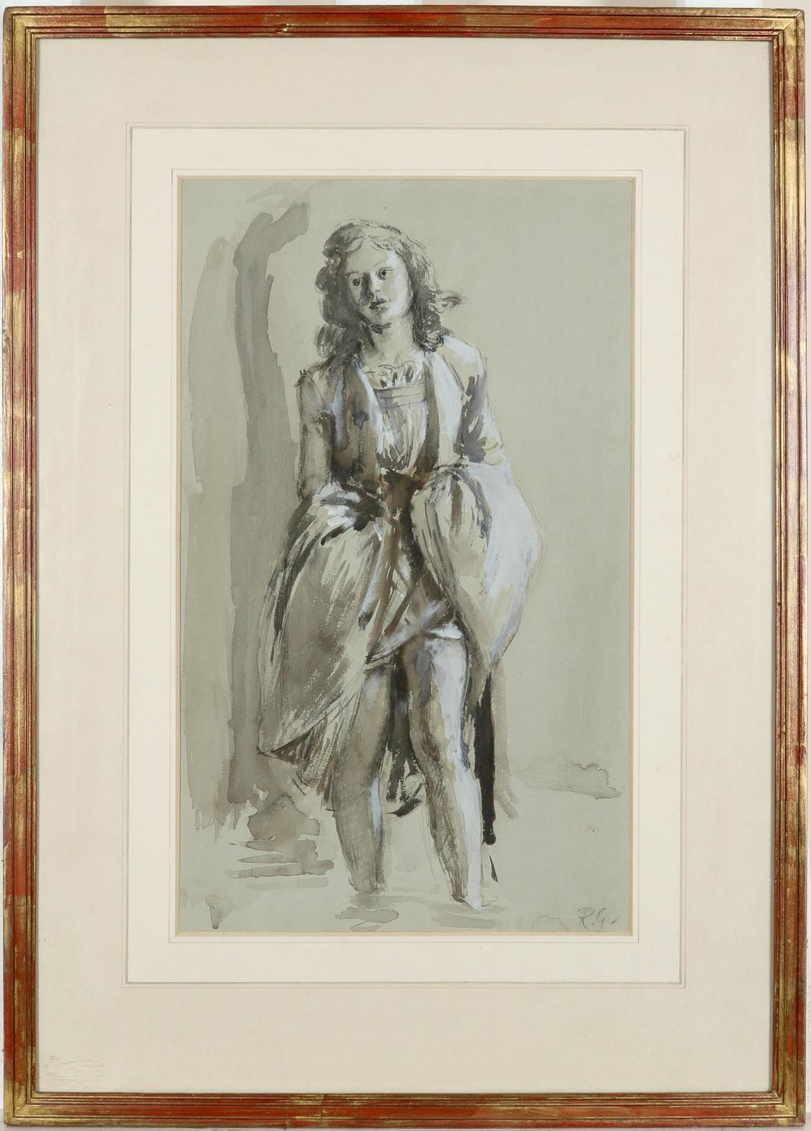 ‡Robin Guthrie (1902-1971) Study of a girl paddling Signed with initials R.G (lower right) - Image 2 of 3