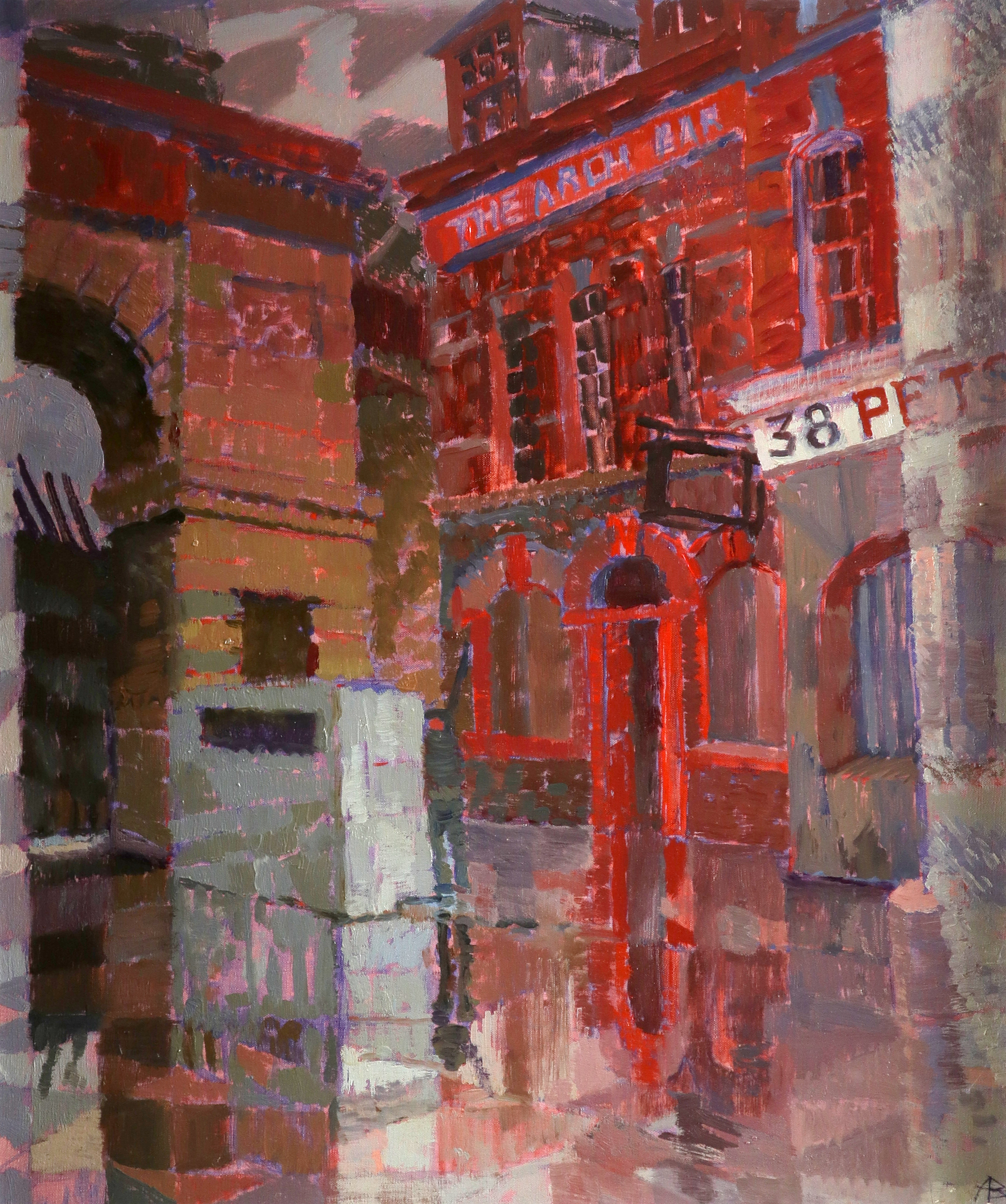 ‡Alicia Boyle (Irish 1908-1997) Bishop Gate, Derry Signed with initials AB (lower right), signed