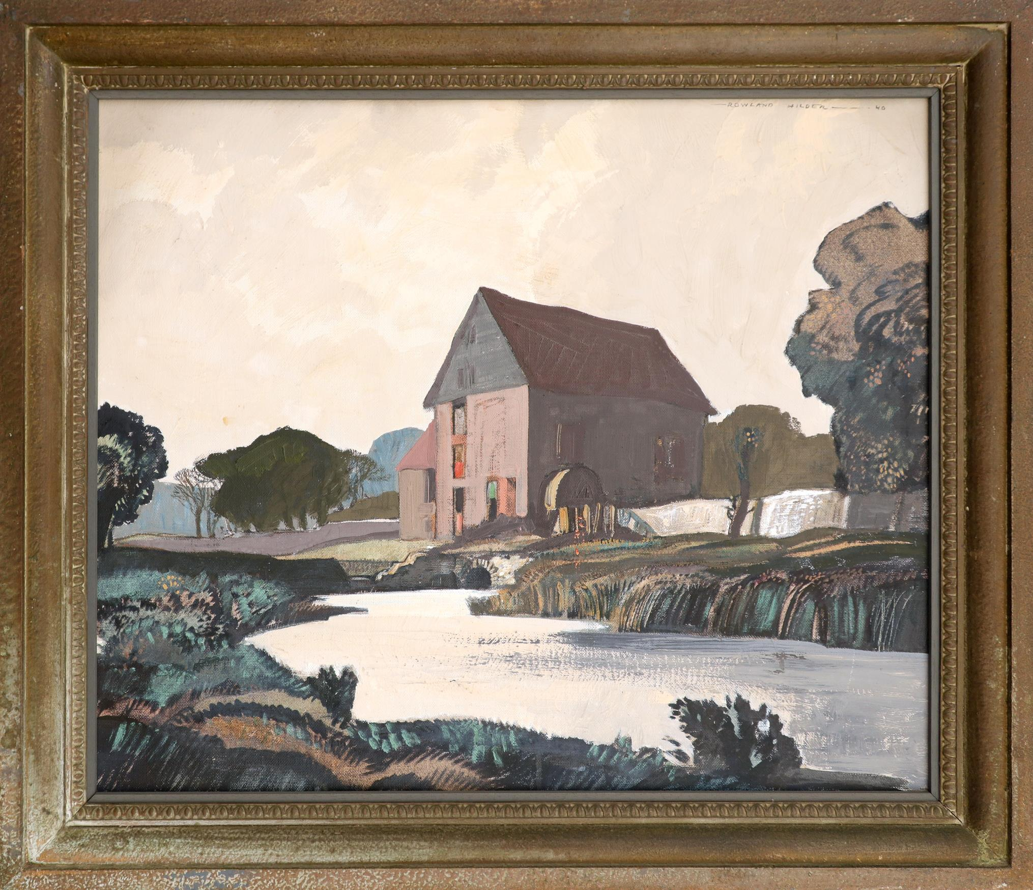 ‡Rowland Hilder (1905-1993) River landscape with a water mill Signed Rowland Hilder - 40 (upper - Image 2 of 3