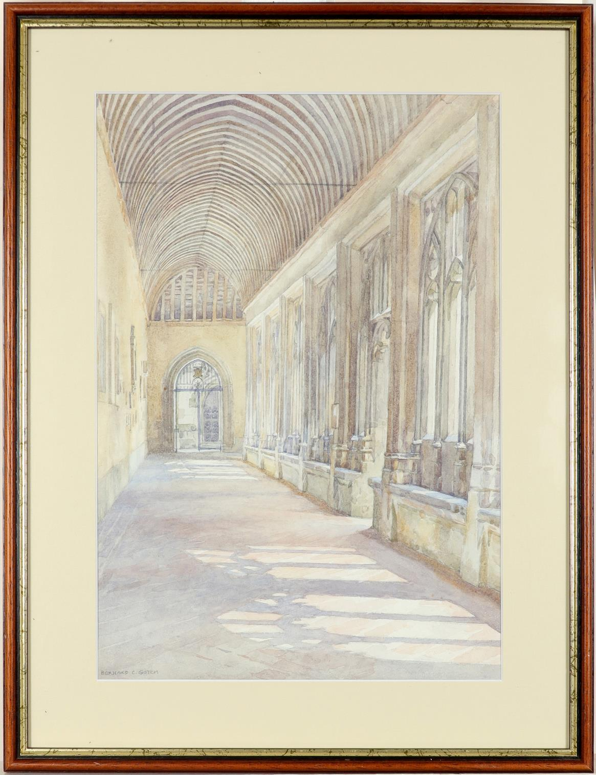 ‡Bernard Cecil Gotch (1876-1963) Old Cloister, Winchester College; School, Winchester College Two, - Image 5 of 12
