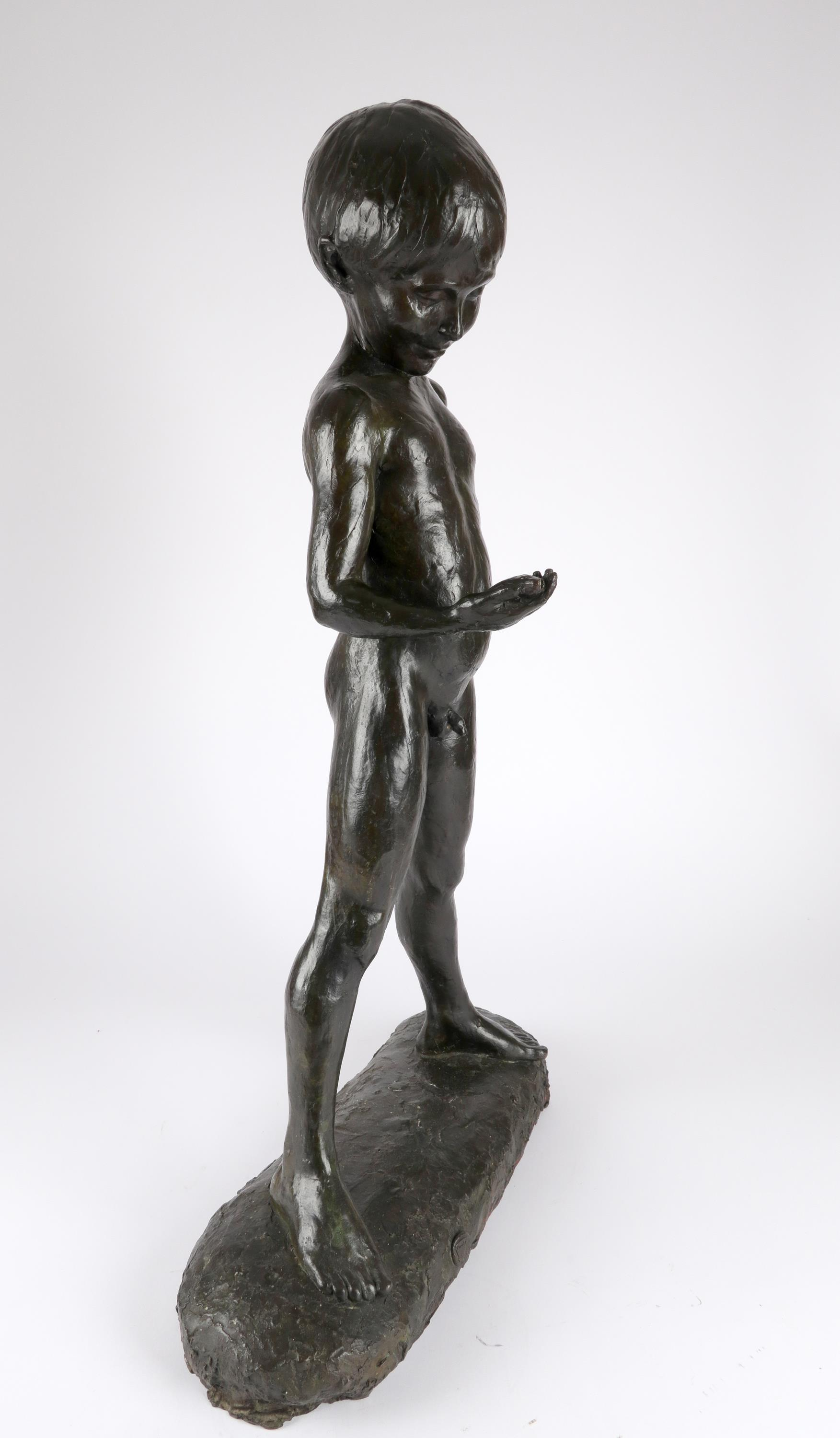 ‡Enzo Plazzotta (Italian 1921-1991) The fisherboy Stamped with signature and number Plazzotta/3/9, - Image 2 of 4