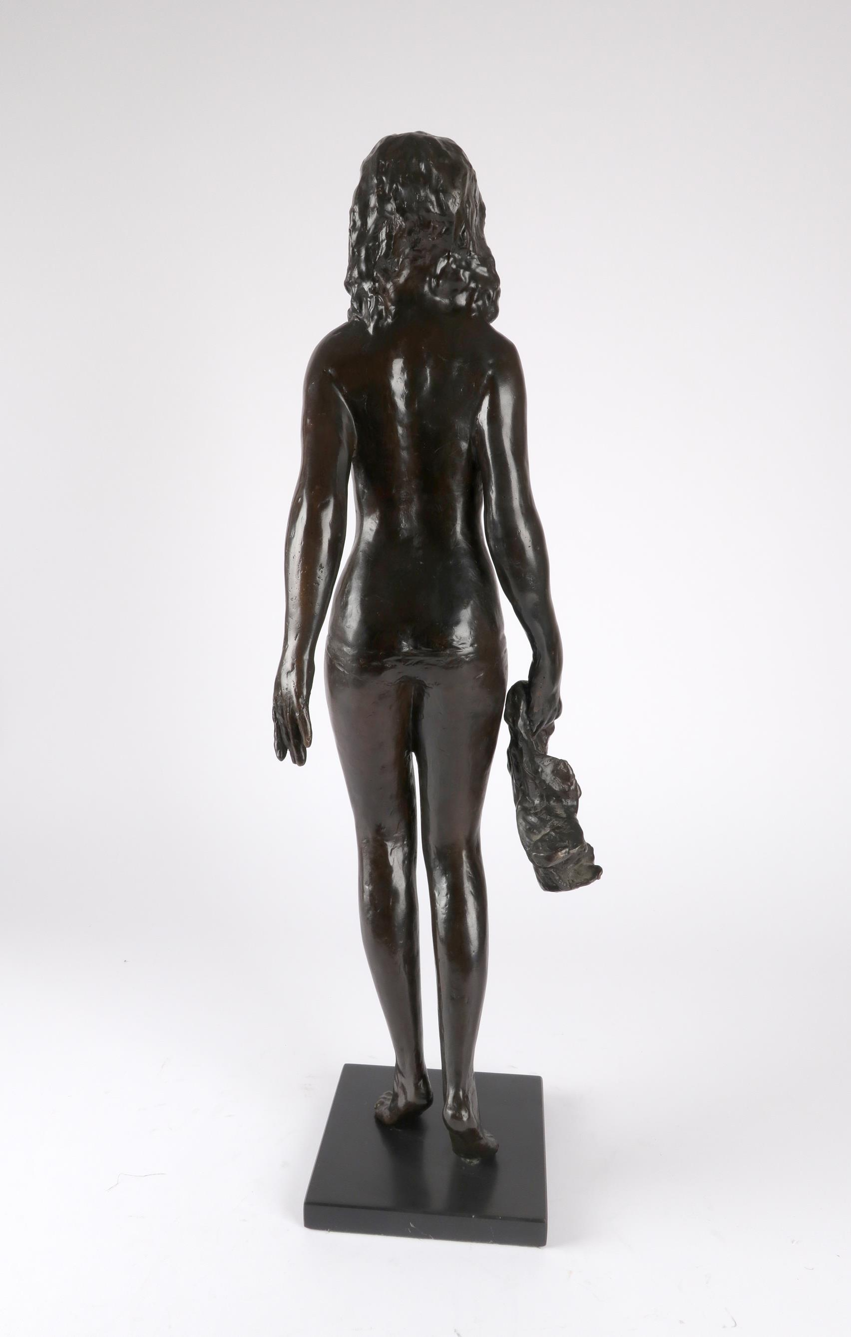 ‡Sydney Harpley RA, FRBS (1927-1992) Towel girl Signed and numbered Harpley/2/9 (to towel) Bronze on - Image 3 of 4