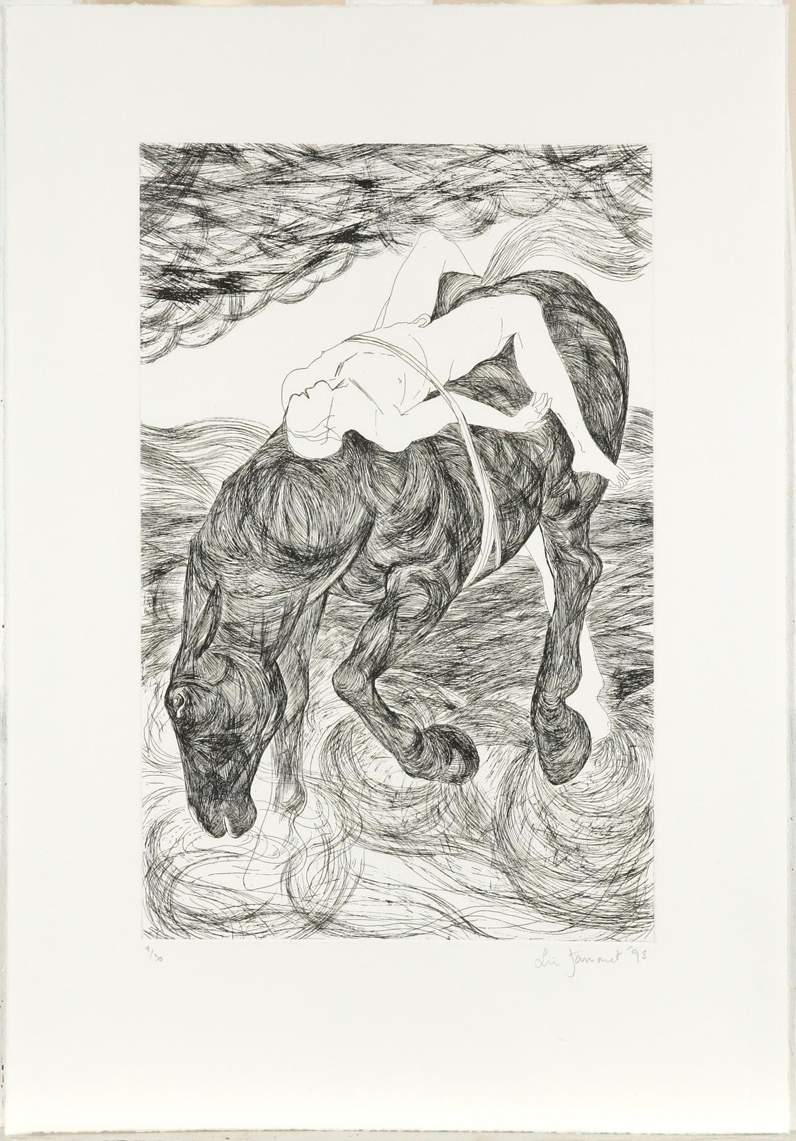 ‡Lin Jammet (1958-2017) Mazeppa Signed, dated and numbered 9/30 Lin Jammet '98 (in pencil to - Image 2 of 3