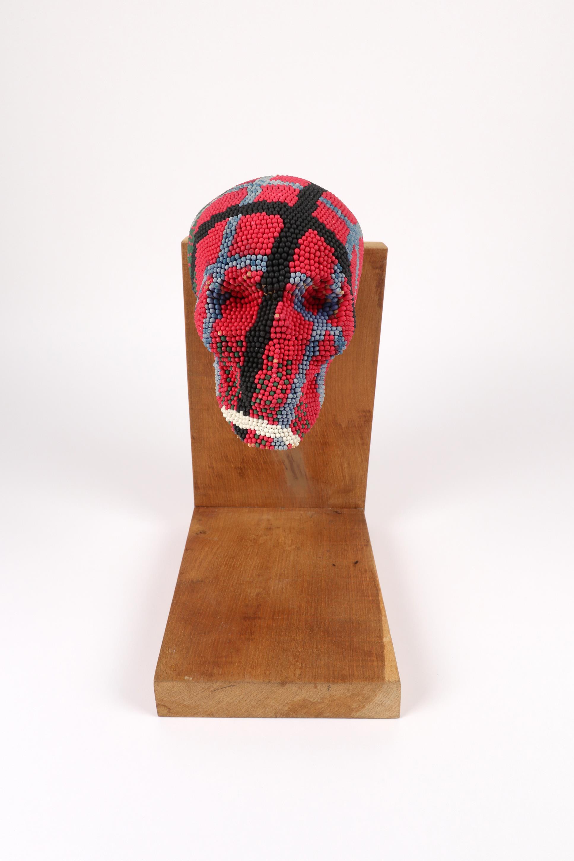 ‡David Mach RA (Scottish b.1956) Skull Signed Mach 98/No. 10/12 (to label underneath chin) - Image 2 of 5