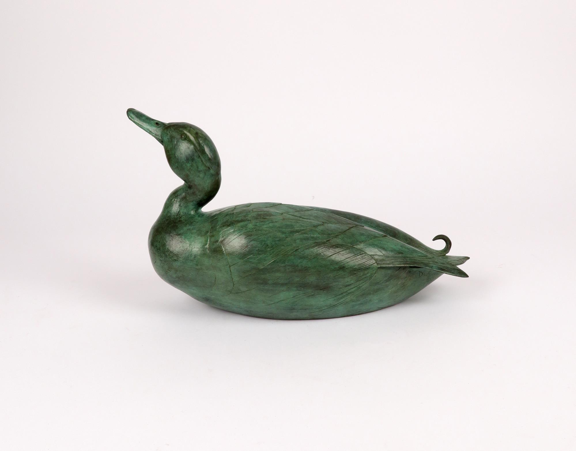 ‡Geoffrey Dashwood (b.1947) Mallard Drake I Signed and numbered Dashwood 7/12 Bronze with green - Image 2 of 4