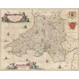 Joannes Janssonius (Dutch 1588-1664) Principatus Wallæ Pars Australis, Vulgo South-Wales Engraved