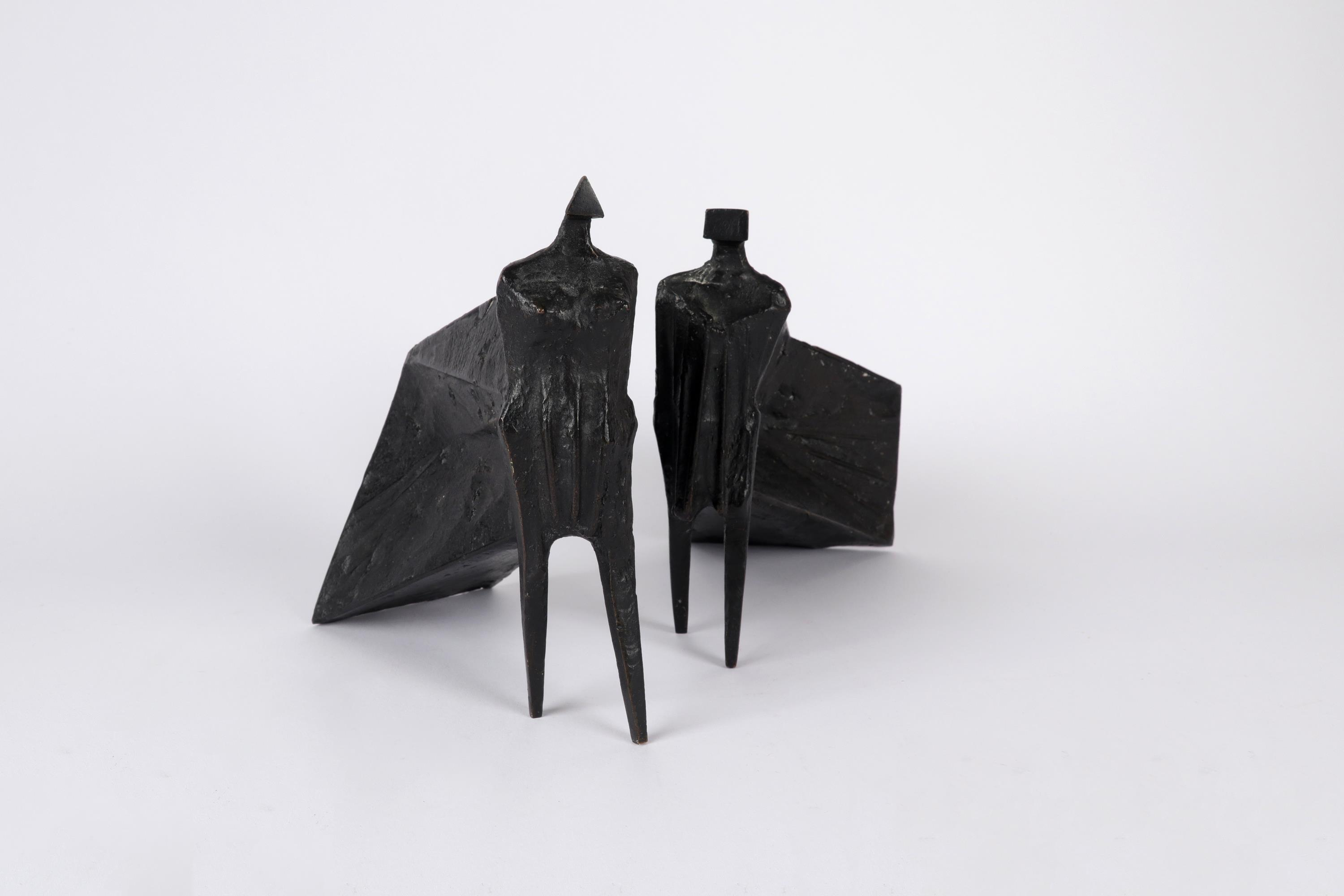 ‡Lynn Chadwick CBE, RA (1914-2003) Pair of Cloaked Figures III Each signed dated and numbered C/77/ - Image 2 of 22