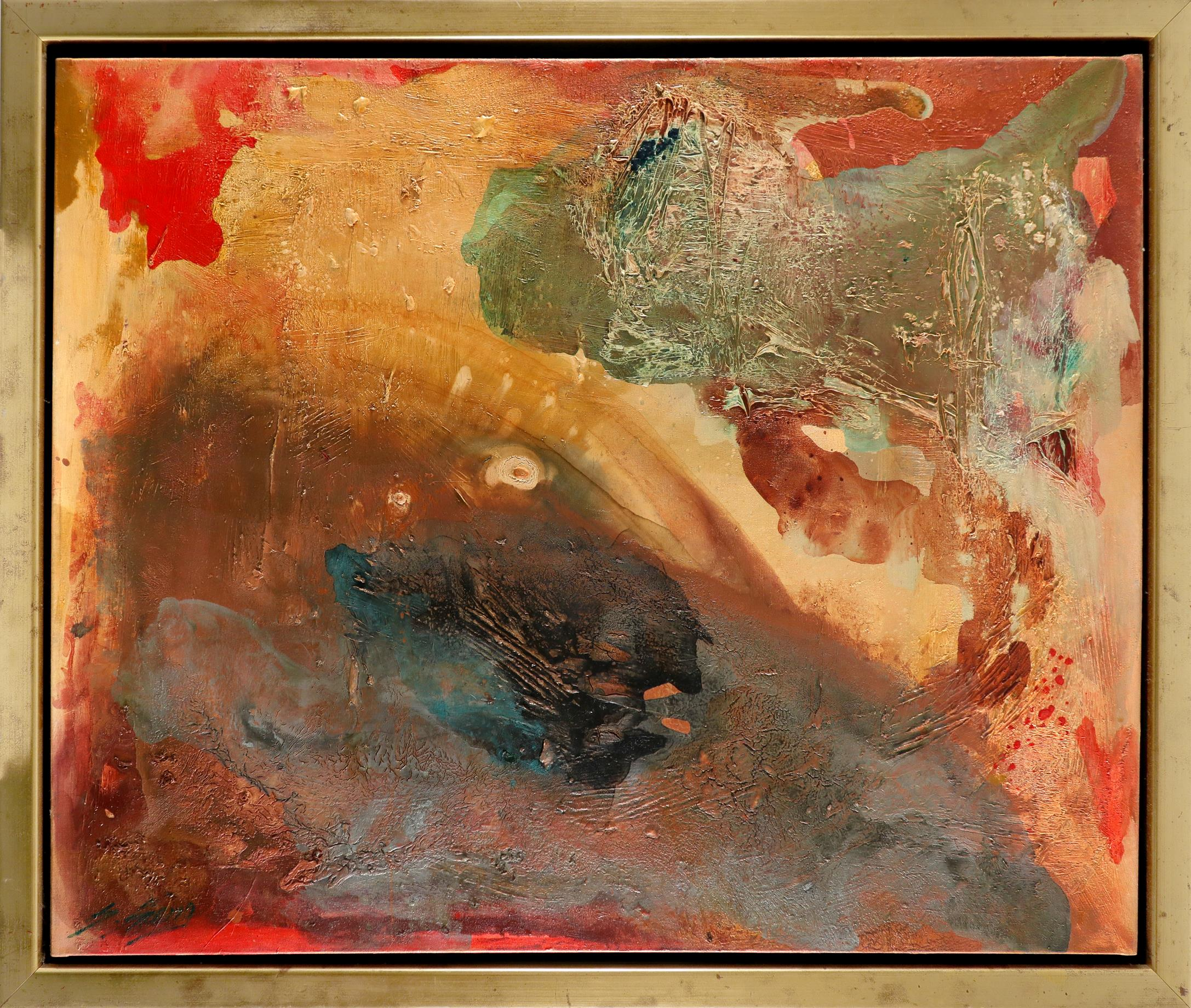Shanshan Sheng (Chinese b.1957) Enlightenment of Amber Signed S.Sheng (lower left), signed and dated - Image 2 of 3