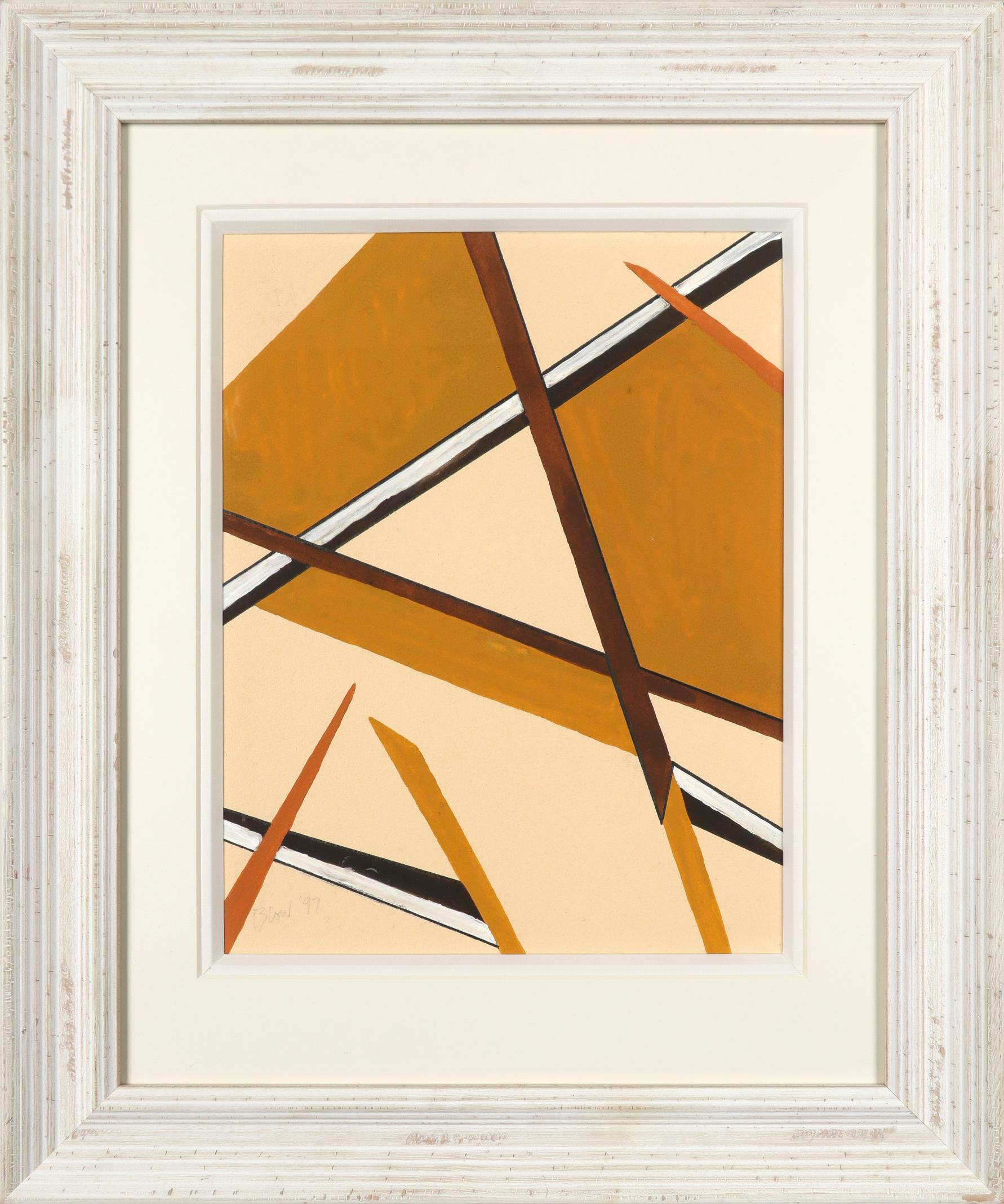 ‡Sandra Blow RA (1925-2006) Abstract in browns Signed and dated Blow '97 (lower left) Gouache 30.9 x - Image 2 of 3