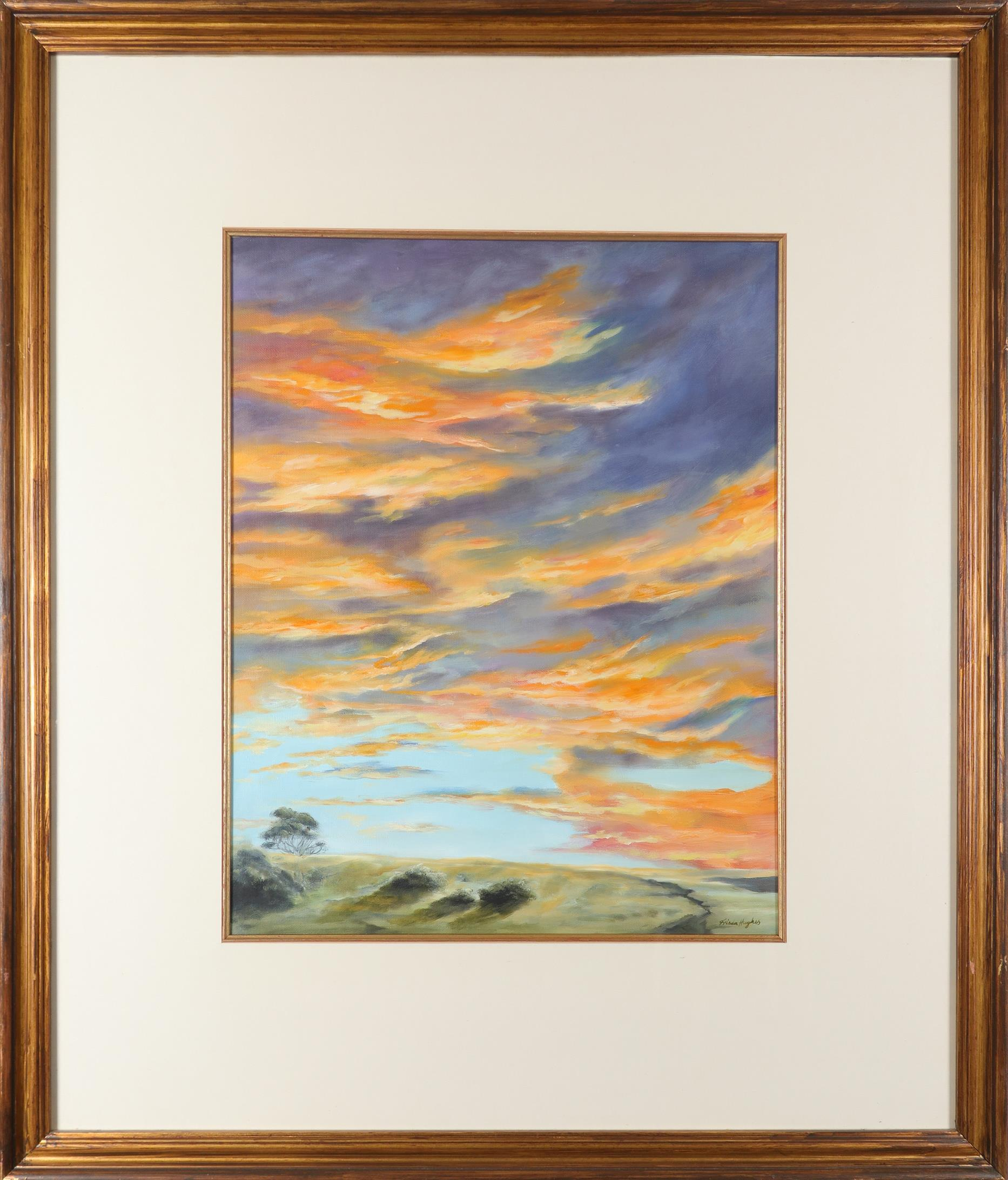 ‡Frieda Hughes (b.1960) Sunset No. 1 Signed Frieda Hughes (lower right), and signed and inscribed - Image 2 of 3
