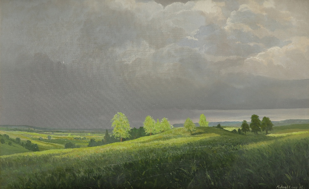 ‡Michael Long (b.1940) Sunlight after the storm Signed and dated Michael Long 62 (lower right) Oil