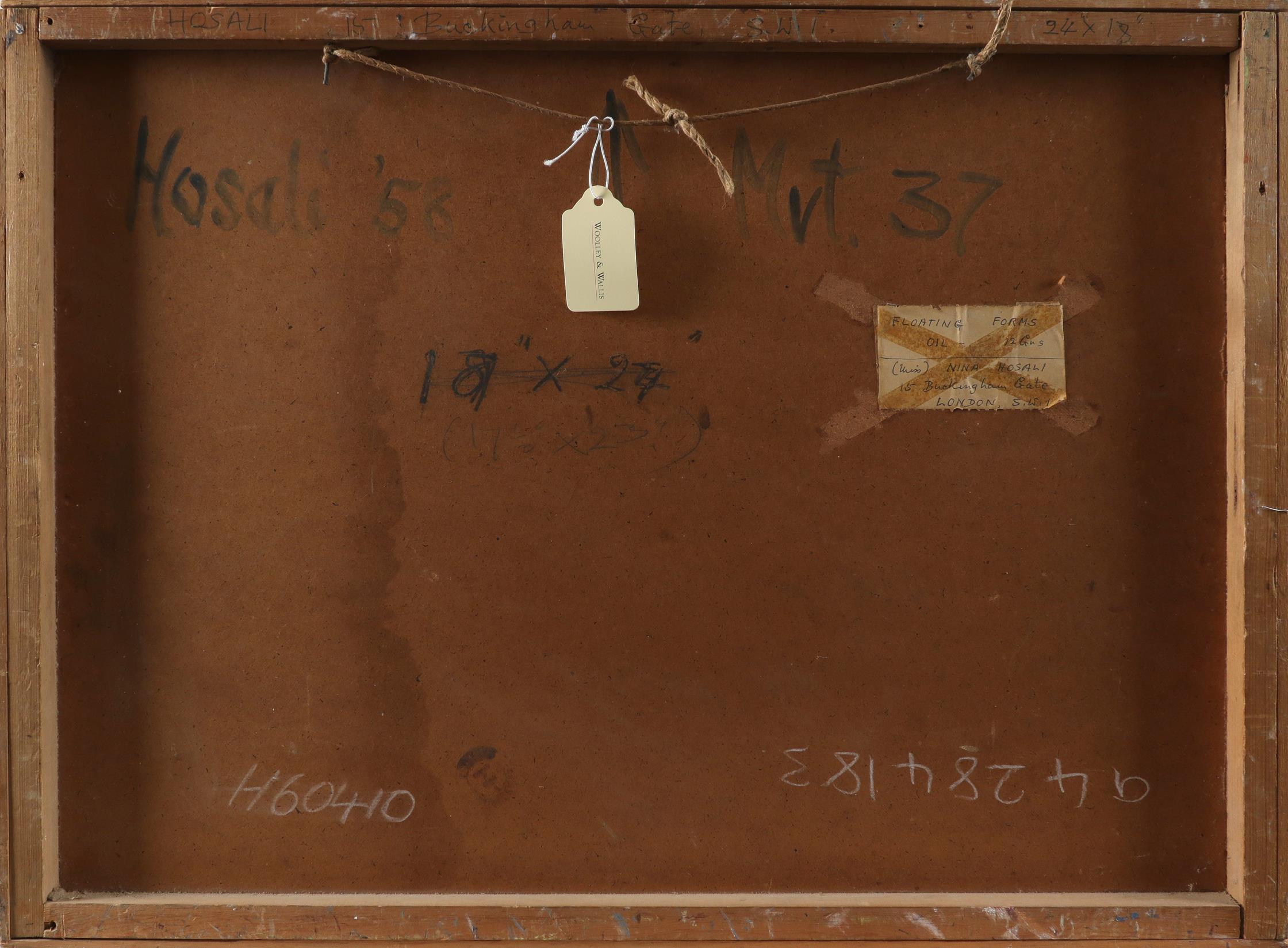 ‡Nina Hosali (1898-1987) Floating Forms; Encounter I; Two figures Three, one signed and dated Hosali - Image 5 of 9