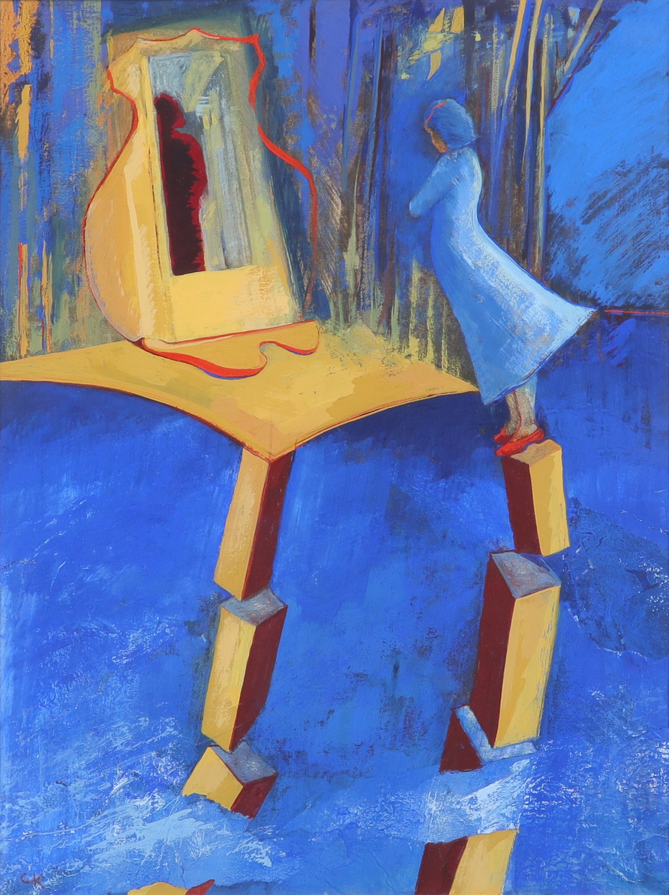 ‡Christine Kinsey (Welsh Contemporary) Cartre Signed with initials CK (lower left) Gouache 29.5 x