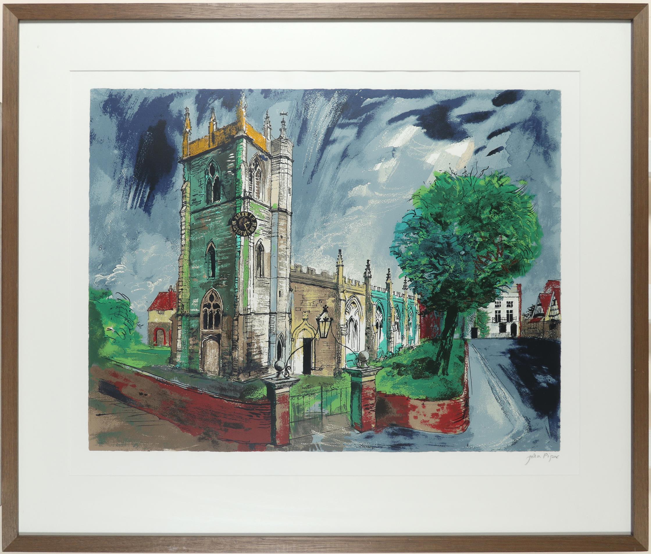 ‡John Piper CH (1903-1992) St Nicholas, Alcester (Levinson 383) Signed in pencil John Piper (in - Image 2 of 3