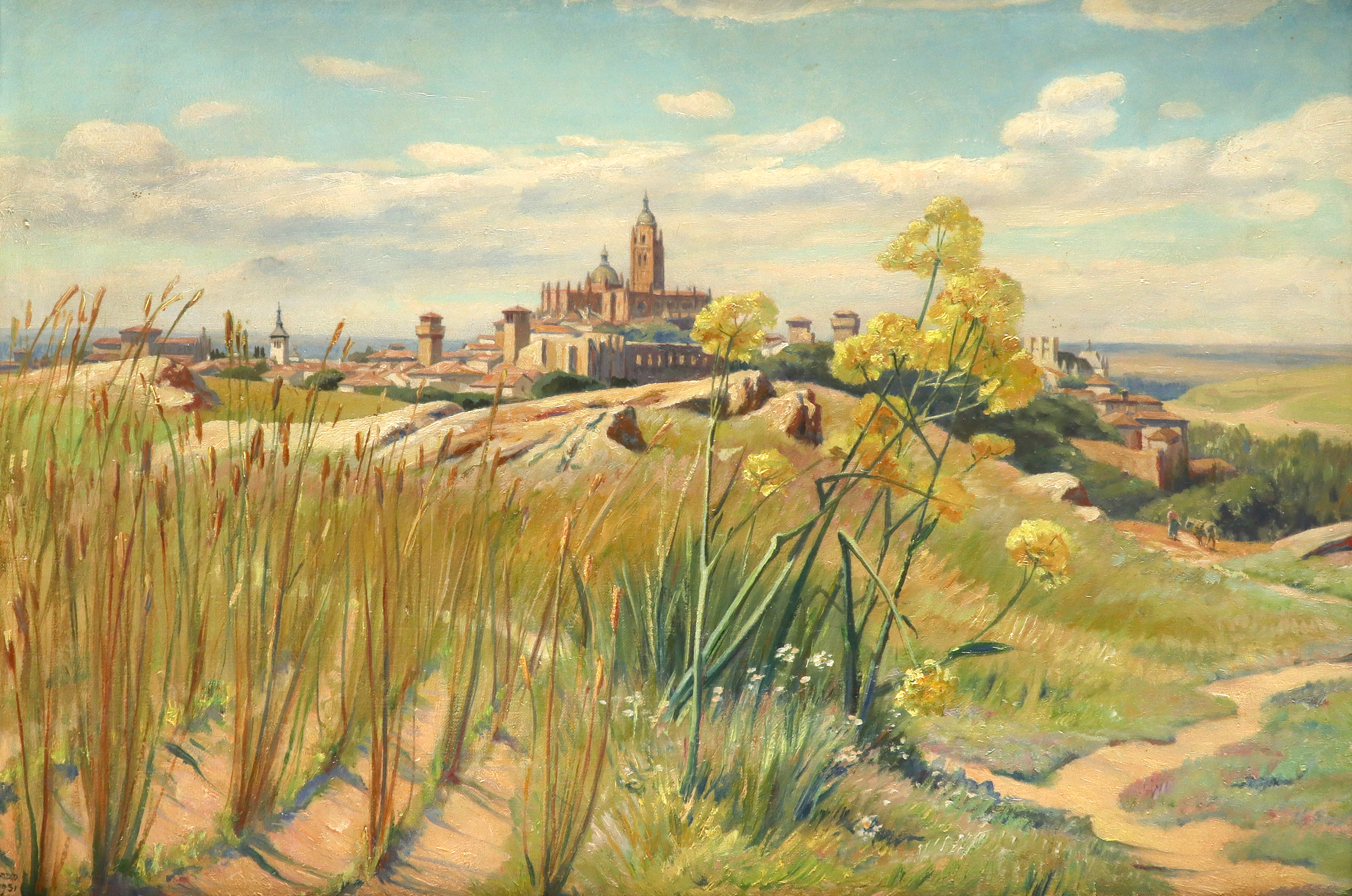Francis Dodd RA (1874-1949) View of Segovia, Spain Signed and dated DODD/1931 (lower left) Oil on