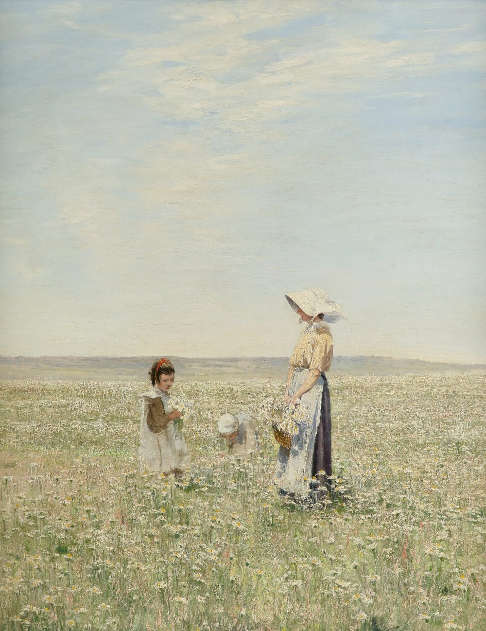 William Page Atkinson Wells (Scottish 1872-1923) Daisy Field Oil on canvas 100.3 x 80.1cm The