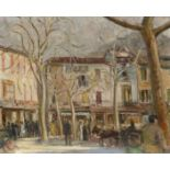‡Hal Woolf (1902-1962) Market Scene, Sóller, Mallorca Signed HAL WOOLF/36 (lower left) Oil on