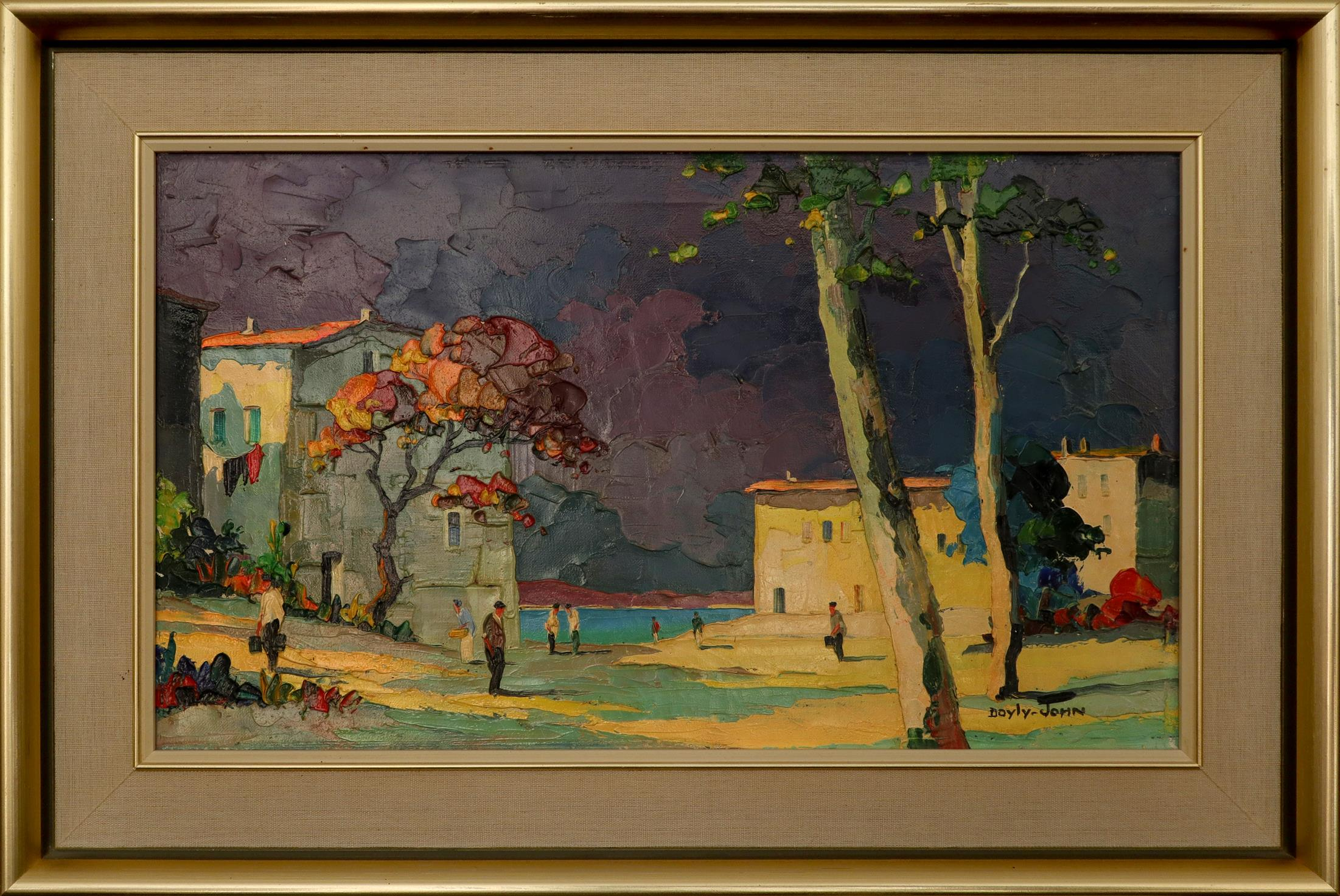 ‡Cecil Rochfort D'Oyly-John (1906-1993) Le Lavandou, near Toulon Signed DOYLY-JOHN (lower right) and - Image 2 of 3