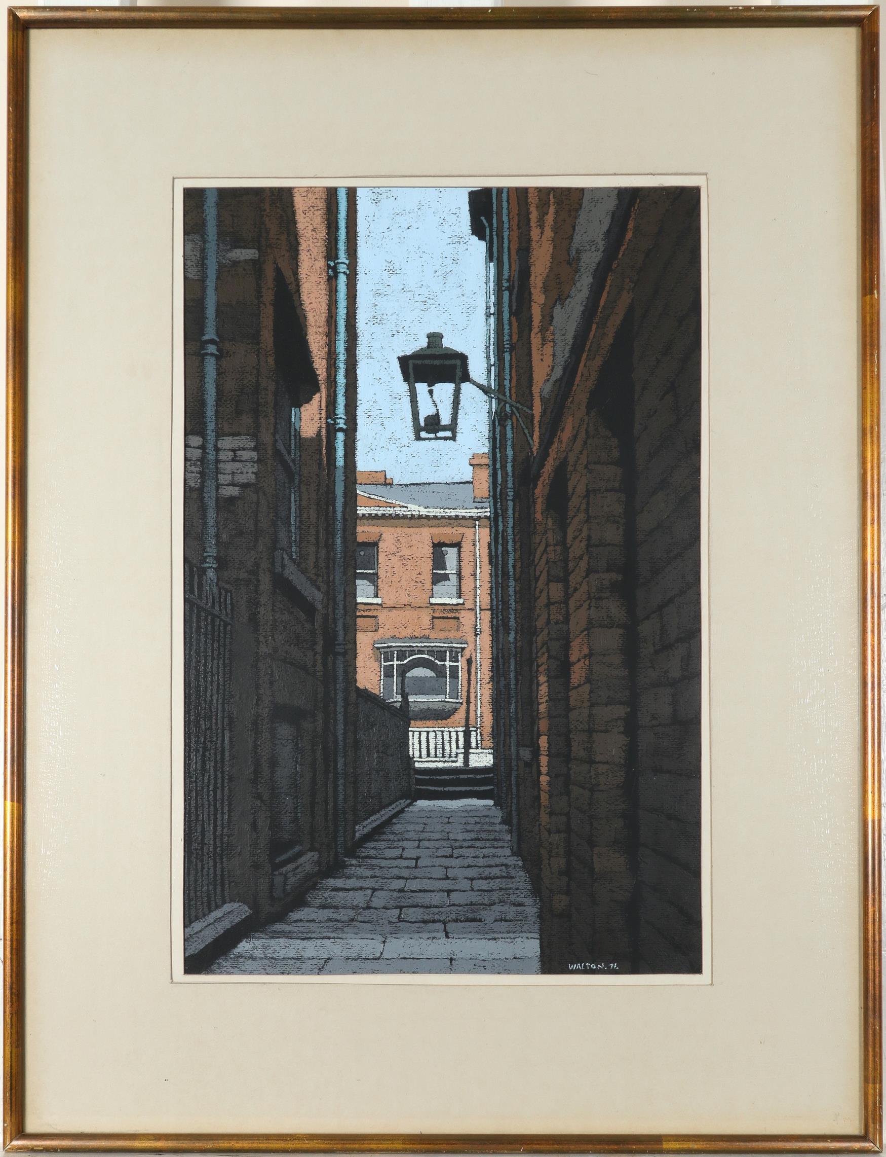 ‡Stuart Walton (b.1933) Street scene Signed and dated WALTON.71. (lower right) Oil on board 44.8 x - Image 3 of 5