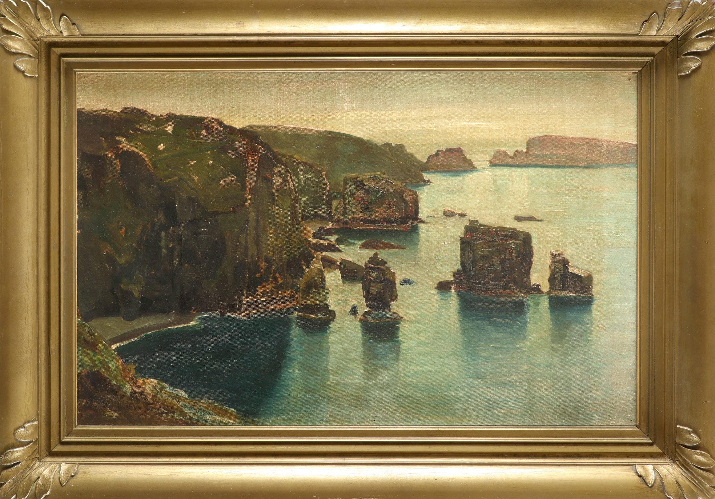‡Arthur Spooner (1873-1962) West coast of Sark showing Les Autelets Indistinctly signed (lower left) - Image 2 of 3