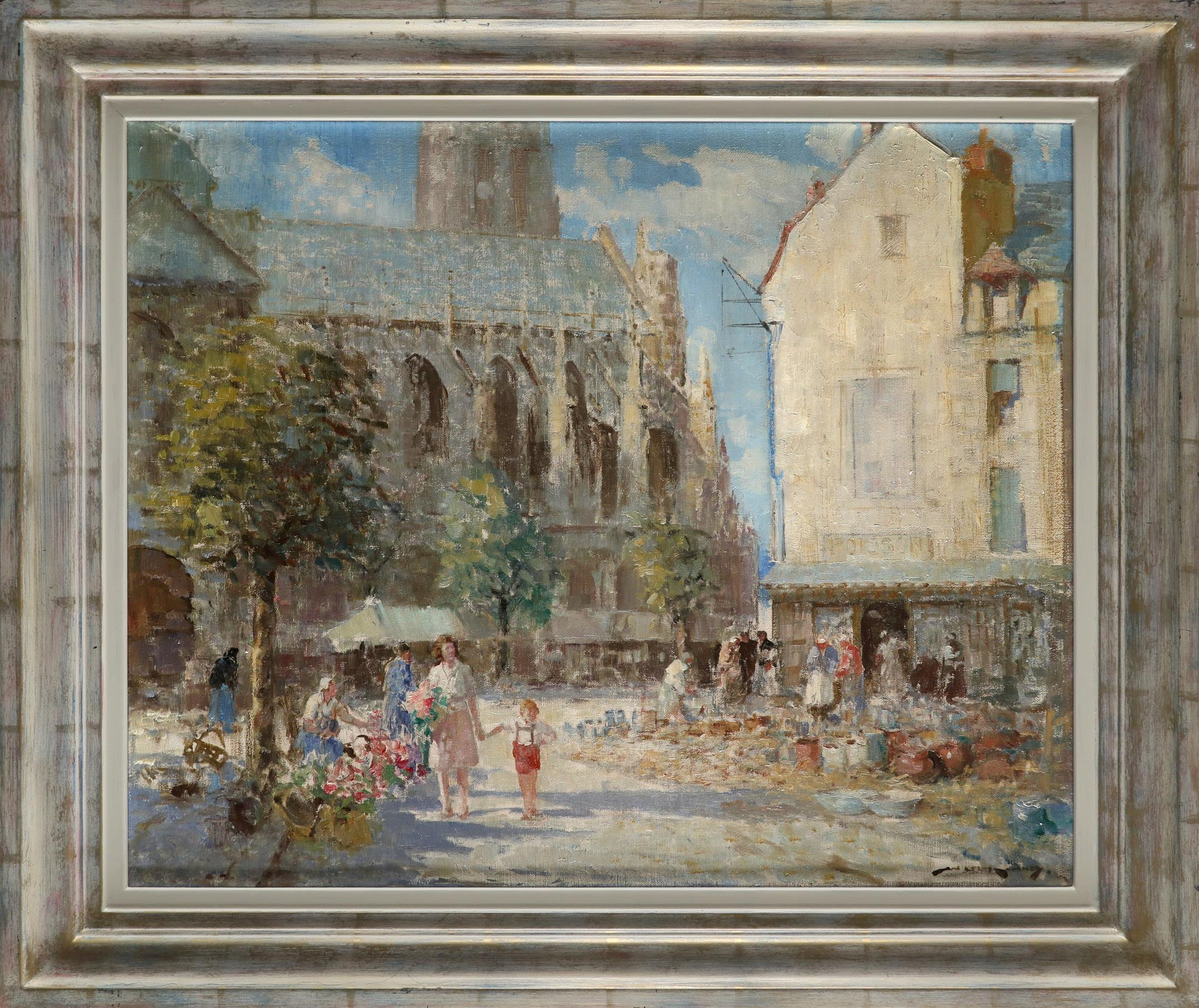‡William Lee Hankey RWS, RI, ROI, RE, NS (1869-1952) The Morning Purchase, Dieppe Signed W LEE - Image 2 of 3