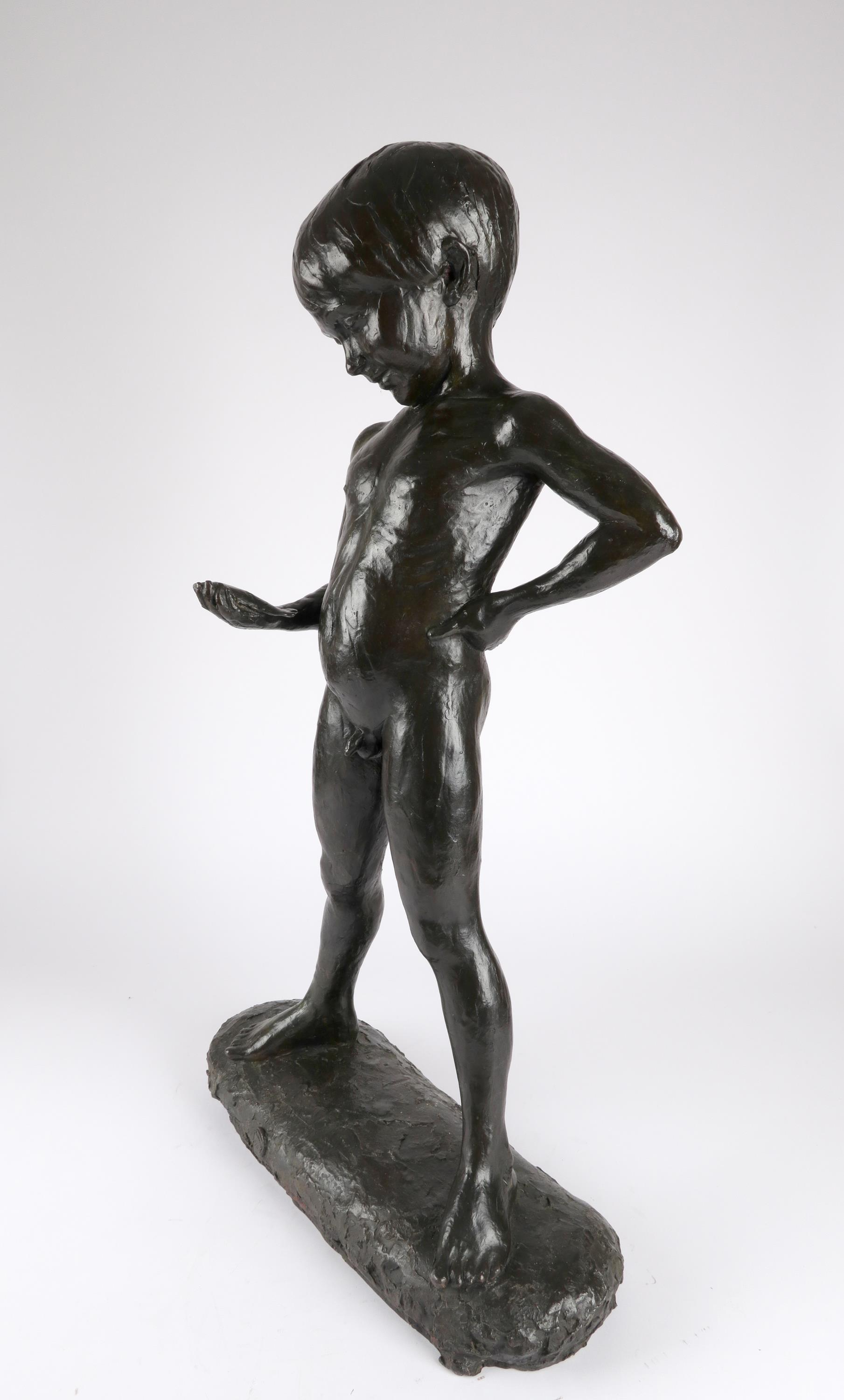 ‡Enzo Plazzotta (Italian 1921-1991) The fisherboy Stamped with signature and number Plazzotta/3/9, - Image 4 of 4