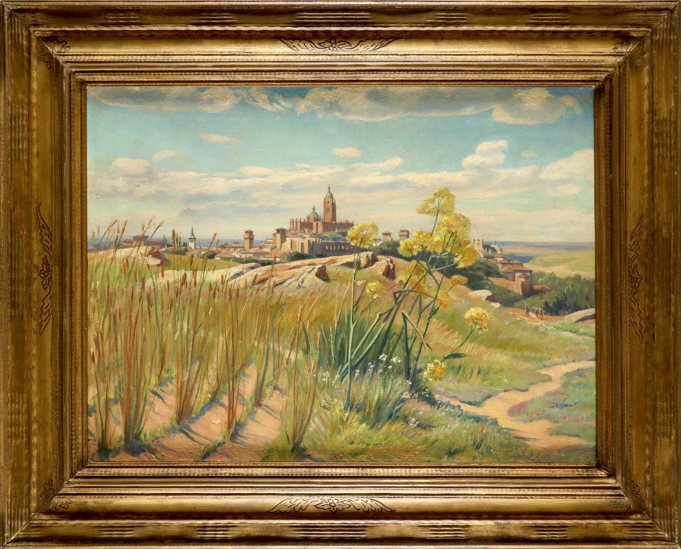 Francis Dodd RA (1874-1949) View of Segovia, Spain Signed and dated DODD/1931 (lower left) Oil on - Image 2 of 3