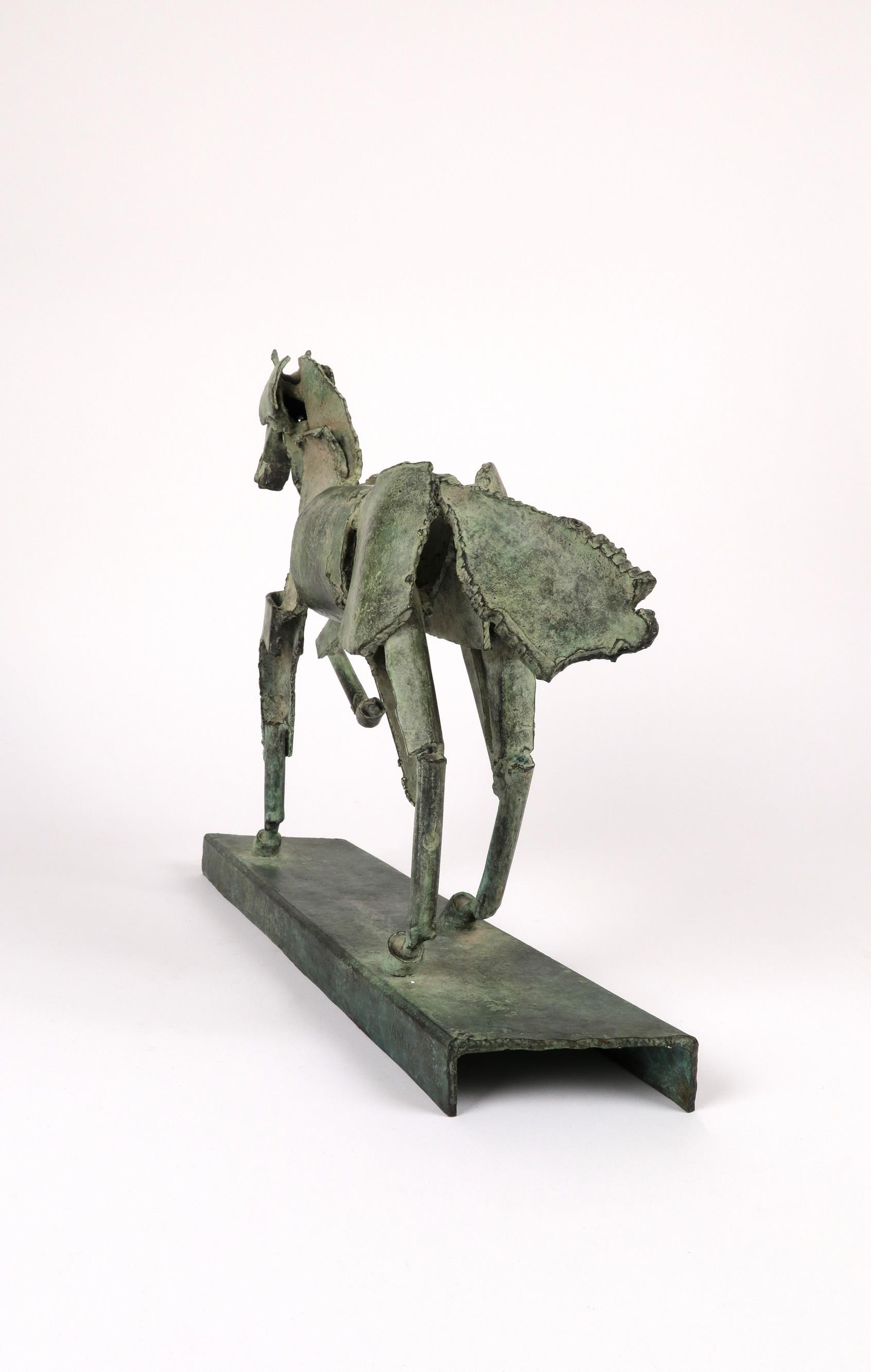 ‡Iain Nutting (b.1961) Proud horse Signed and numbered IAIN 1/8 (to base) Bronze with green - Image 4 of 5