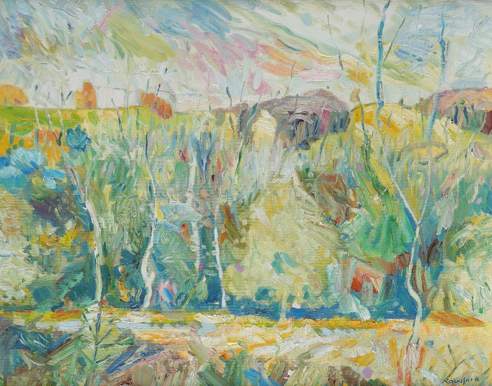 ‡Michael Paul Rainsford (Irish Contemporary) Summer valley Signed Rainsford (lower right) Oil on