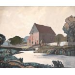 ‡Rowland Hilder (1905-1993) River landscape with a water mill Signed Rowland Hilder - 40 (upper