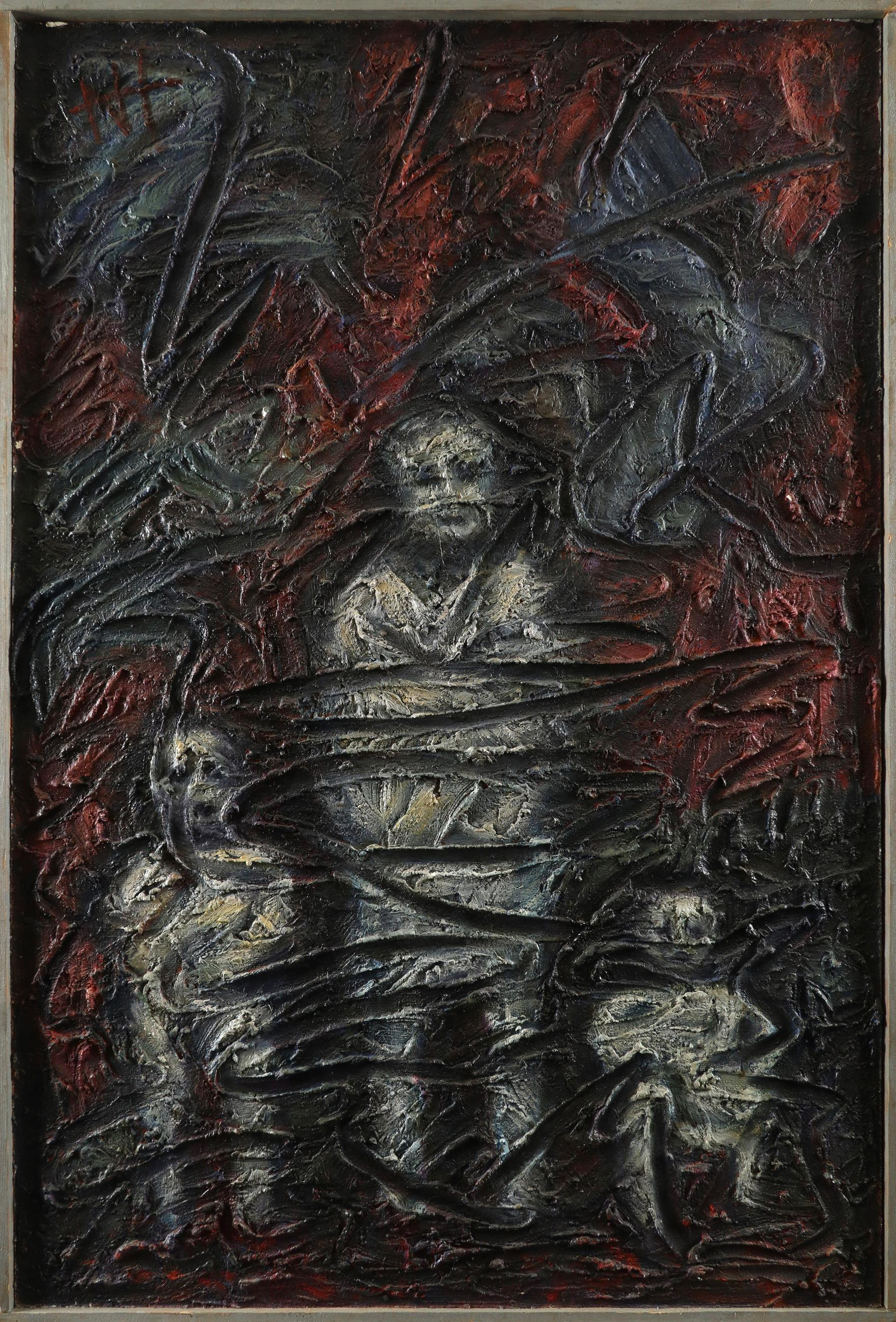 ‡Nina Hosali (1898-1987) Spiral State; Children of War Two, the former signed and dated Hosali/ - Image 5 of 6