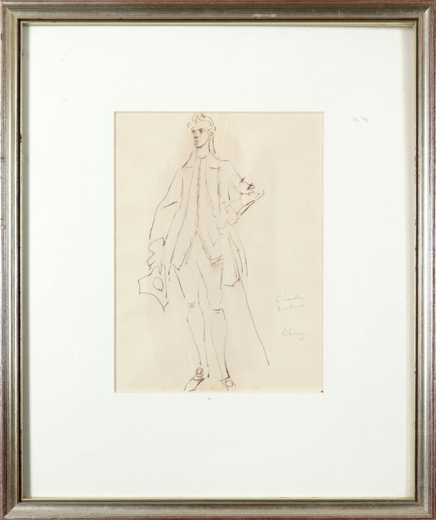 ‡Sir Cecil Beaton CBE (1904-1980) Costume designs for The School for Scandal: Lady Sneerwell; - Image 4 of 6
