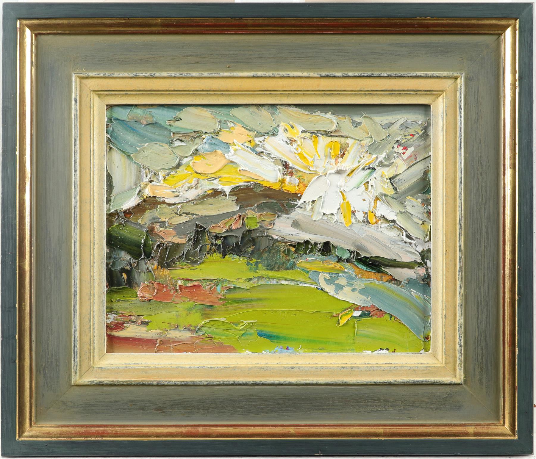 ‡Veronica Gibson (b.1954) Sunburst Signed, dated and inscribed Veronica Gibson/1.2.03/'SUNBURST' (to - Image 2 of 3