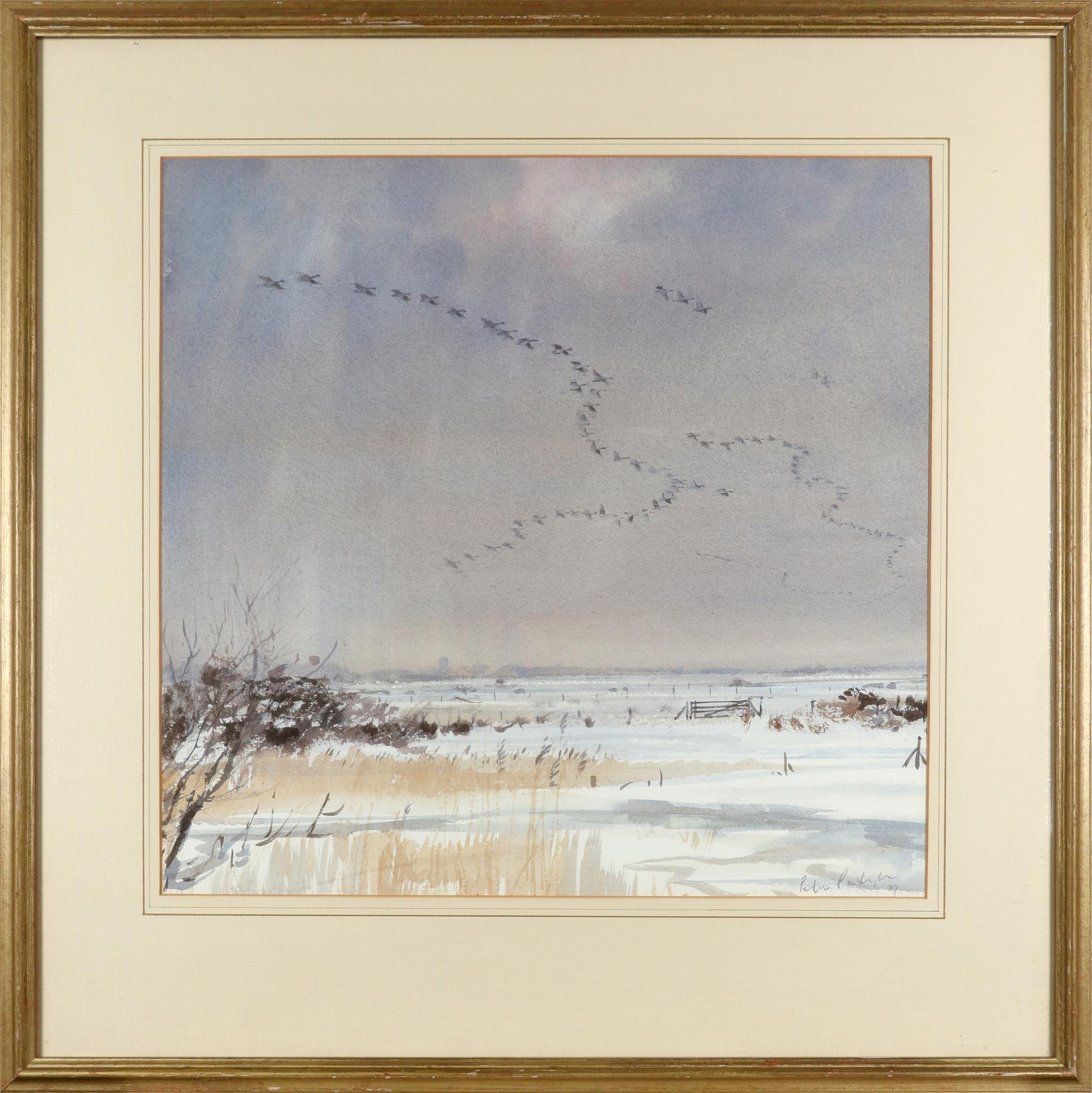 ‡Peter Partington SWLA (b.1941) Geese in flight Signed and dated Peter Partington/87 (lower right) - Image 2 of 3