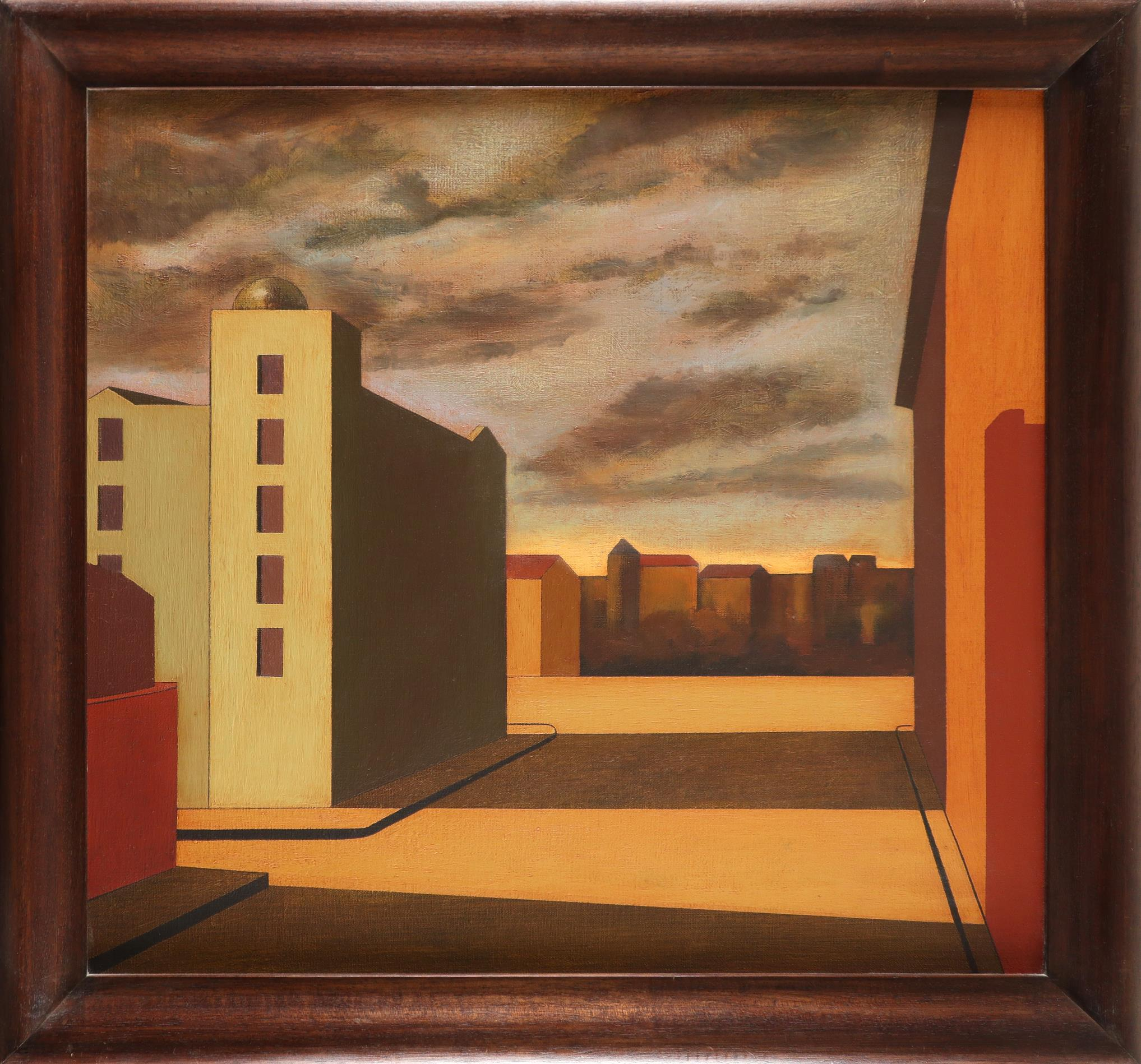 ‡Martin Kane (b.1958) Down Town Light Signed Martin/Kane (to verso) Oil on canvas, 1994 61 x 66cm - Image 2 of 3